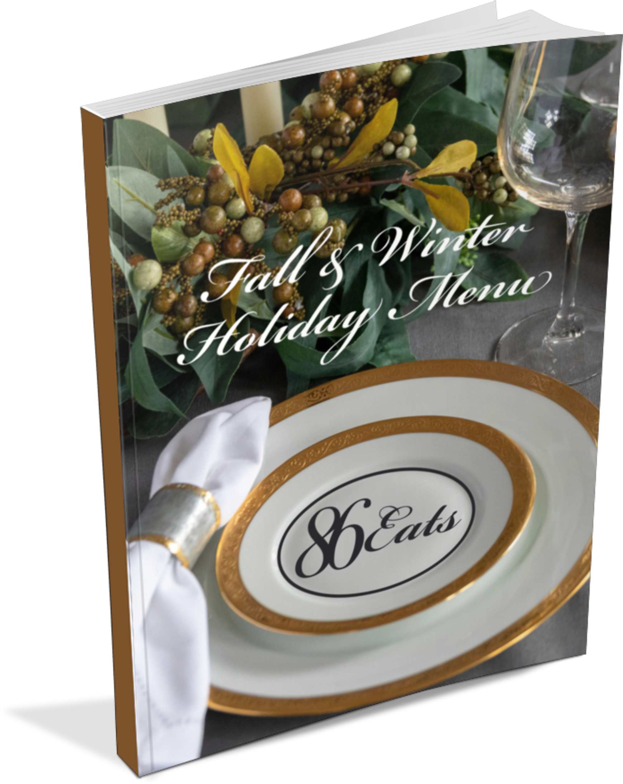 GET OUR NEW E-BOOK , an 18 recipe - plant based fall & winter holiday menu with bonus video content.