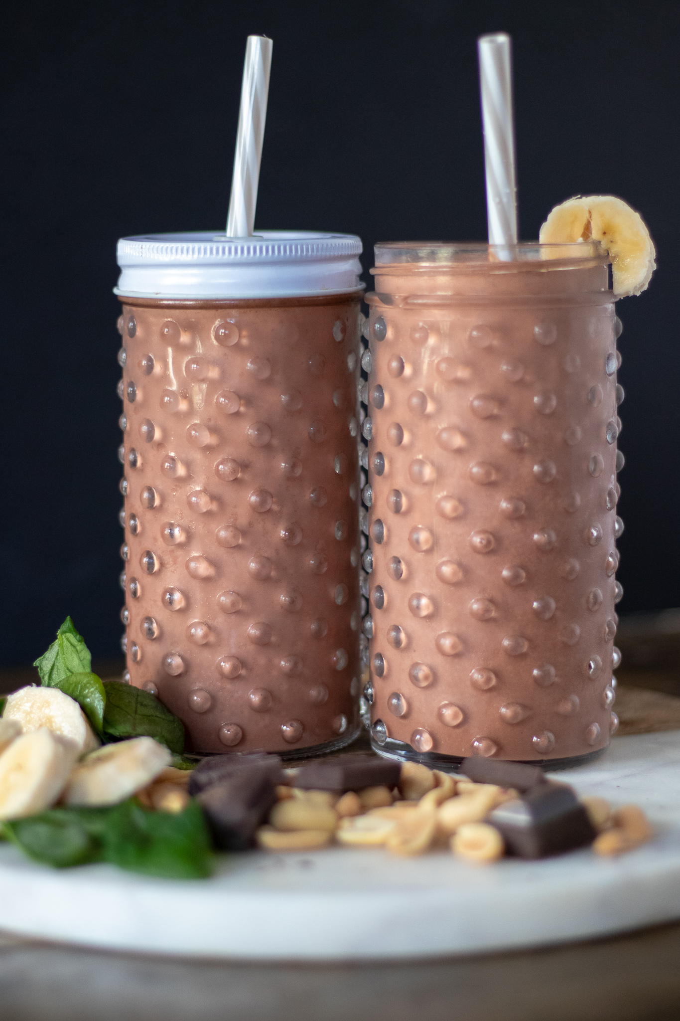 """I am normally not a huge fan of hiding veggies from my kids or husbands in the food I make, but smoothies are an exception! I love beets! Raw, roasted, pickled, I love them. My family, not so much. So if I can sneak these nutrient dense, vitamin rich veggies into a shake without them knowing, I will do it every time ( cause I'm tricky like that!) And I promise they always drink this one and are none the wiser!. This smoothie is sweet, nutty, chocolaty goodness, and a healthy way to start you or your families day! And if you now have """"It's Tricky"""" stuck in you head for the rest of the day, you are most welcome. I'm right there singing along with you."""