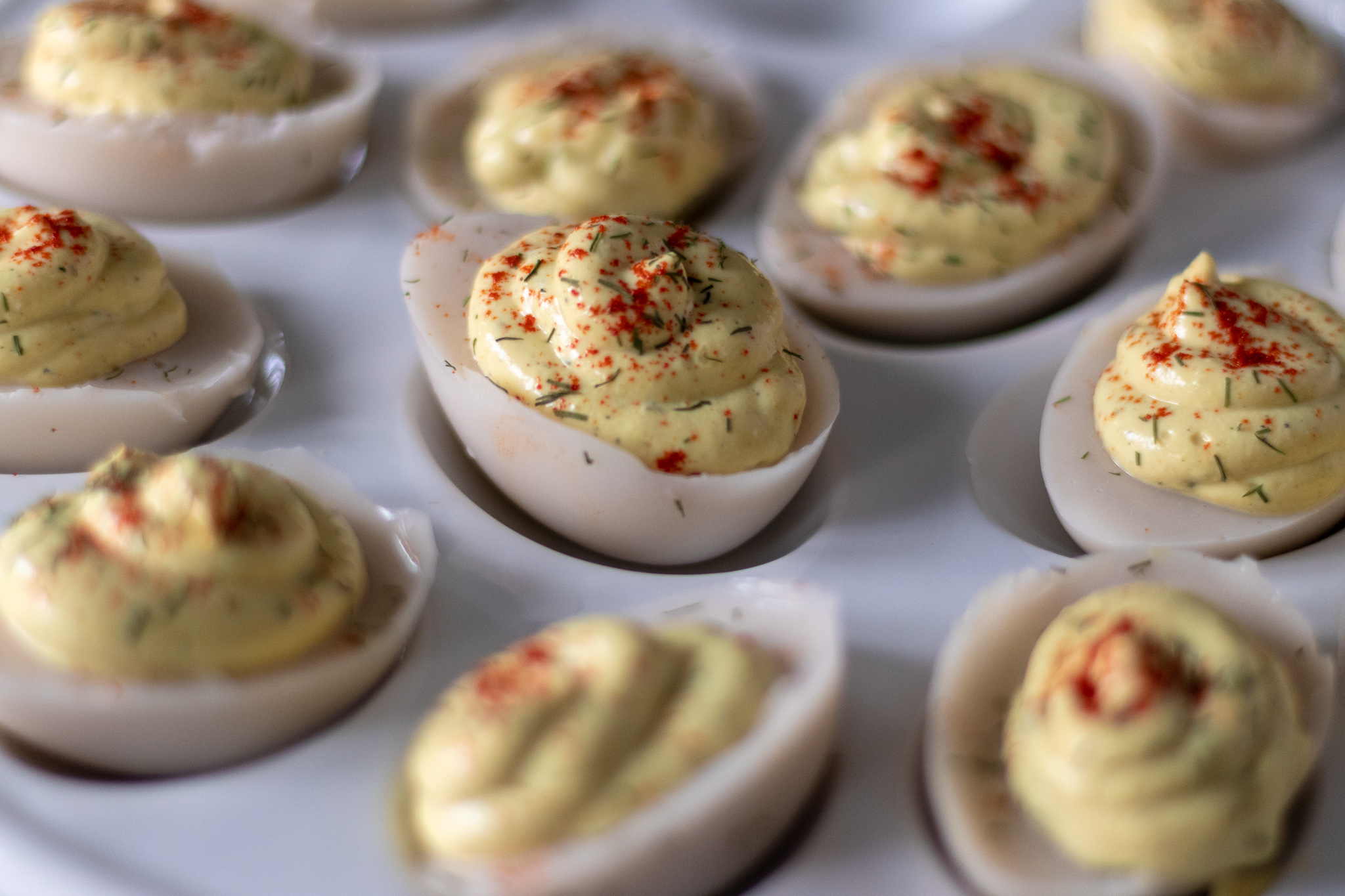 Perfect vegan deviled eggs