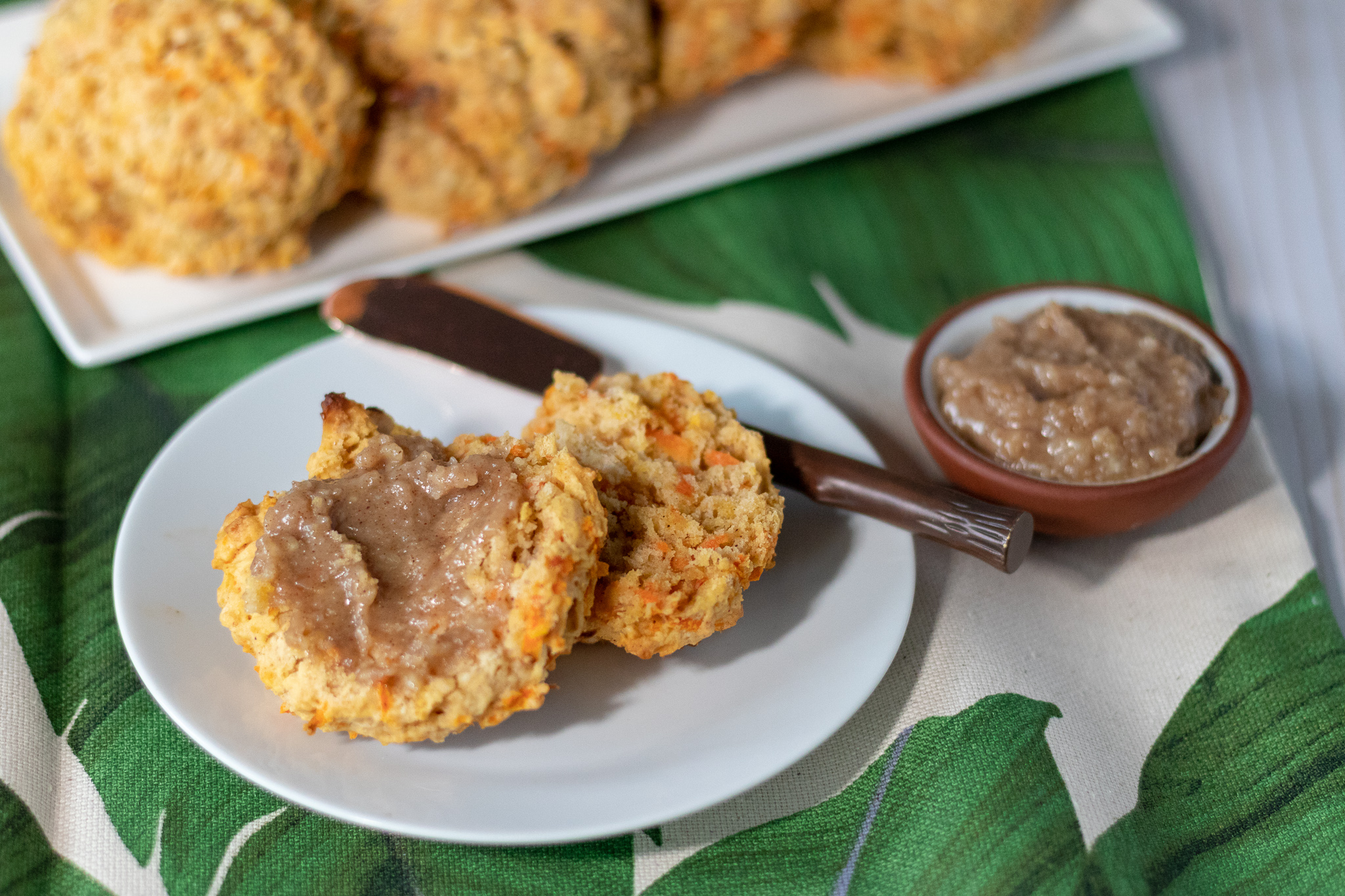 Who says you can't have cake for breakfast, or something pretty close. Carrot cake is one of my favorite cake flavors and biscuits are hands down my favoite bread. So mix the two together, and you have absolute breakfast perfection! These vegan carrot cake biscuits are light and fluffy, packed full of healthy carrots and walnuts. They are just the right amount of sweet and even better topped with our quick and easy Maple Cinnamon Cashew Butter! These little beauties also make a tasty dessert or late afternoon snack. But is there ever a wrong time to eat a biscuit? I don't think so!