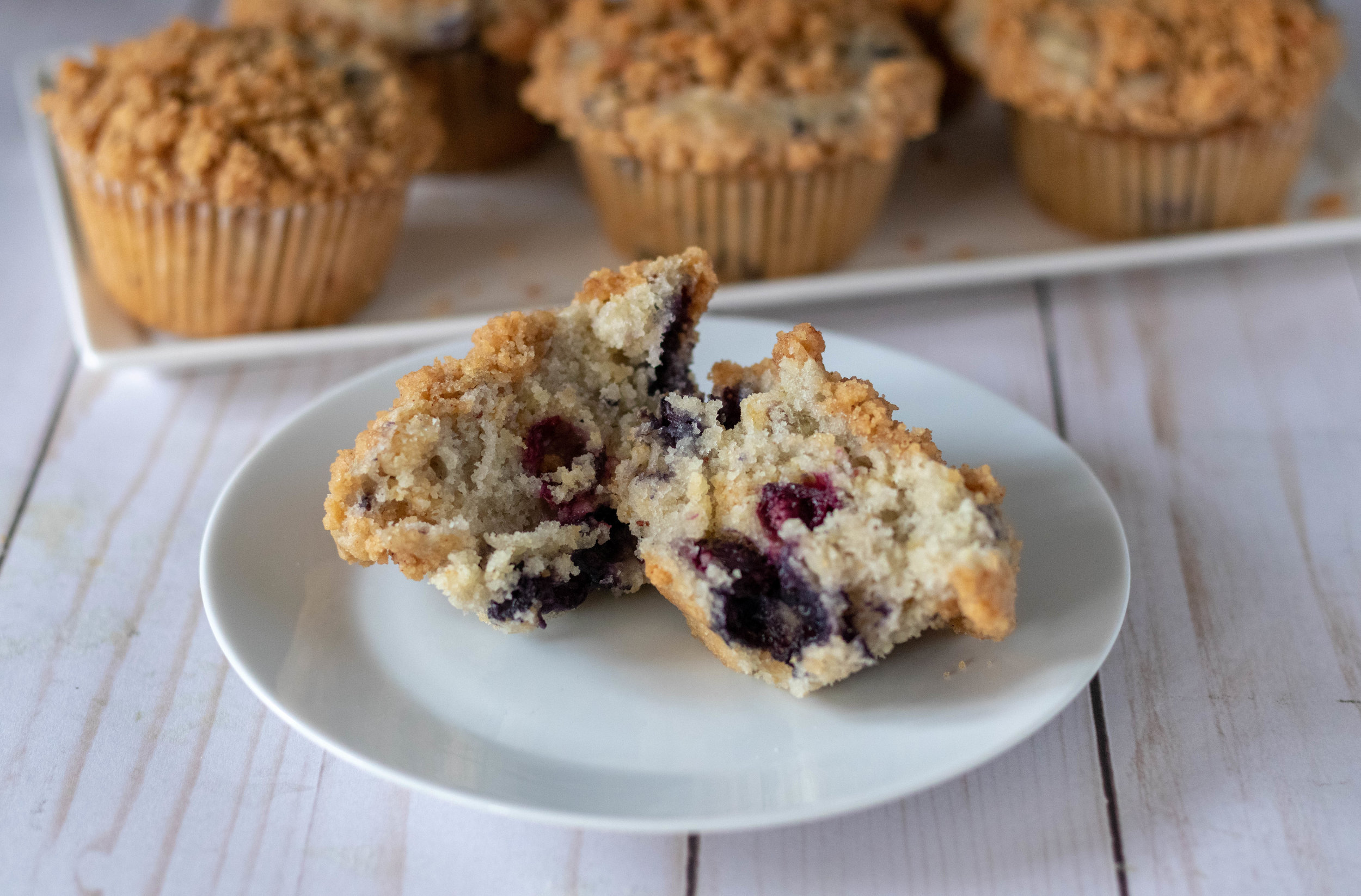 Vegan Blueberry Crumble Muffins