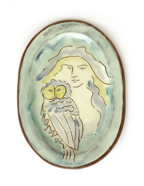 Athena with Her Owl Plate
