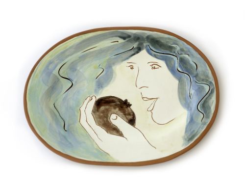 Persephone with Pomegranate Plate