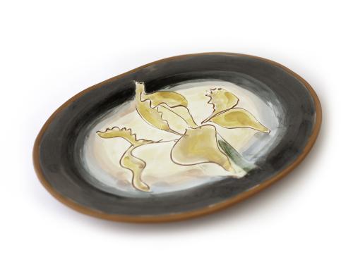 Yellow Fleur-de-Lys Plate