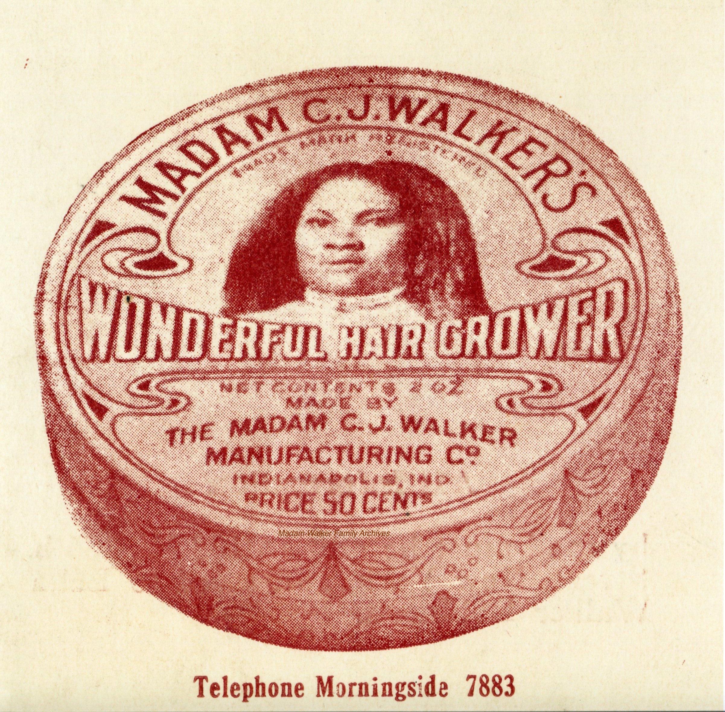 One of Madam C.J. Walker's original products, image courtesy of Madam Walker Family Archives/A'Lelia Bundles.