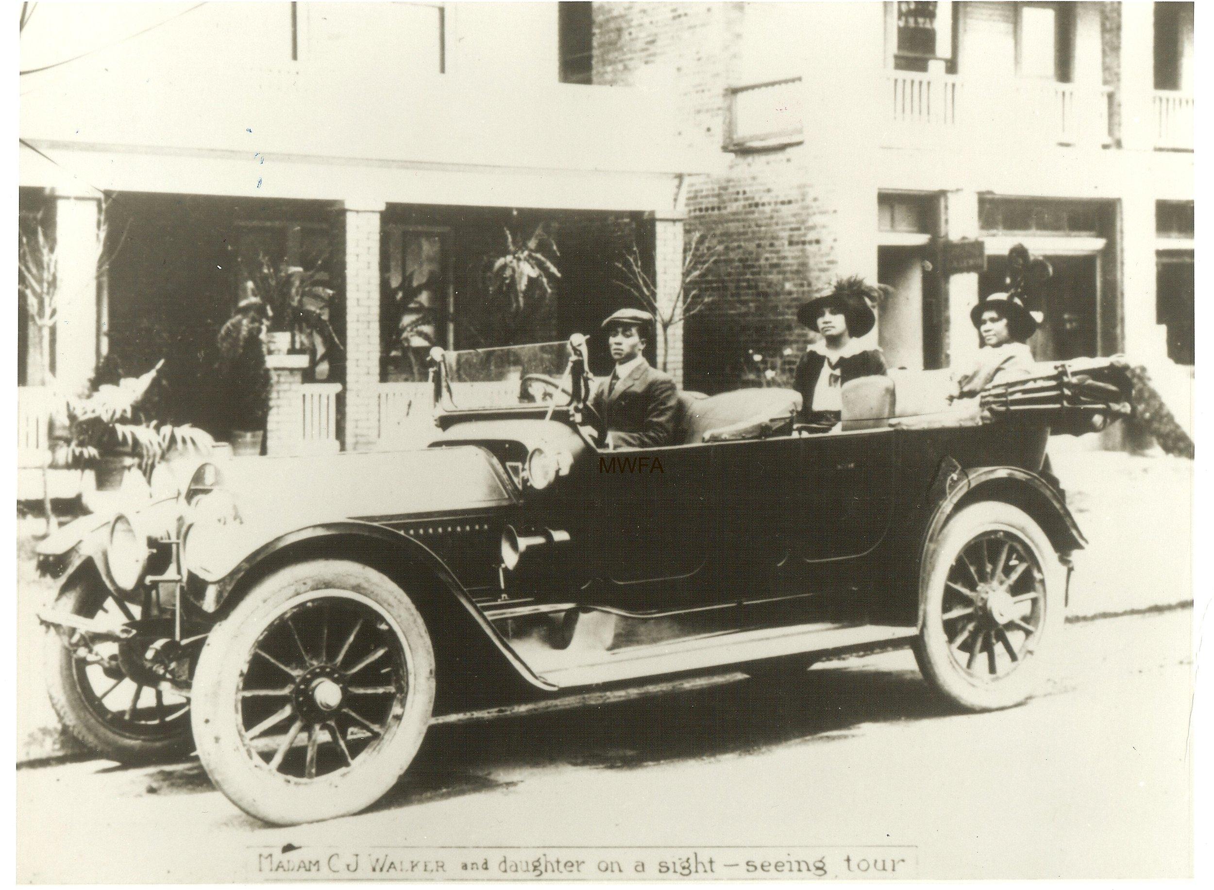 Madam C.J. Walker and her daughter, image courtesy of Madam Walker Family Archives/A'Lelia Bundles