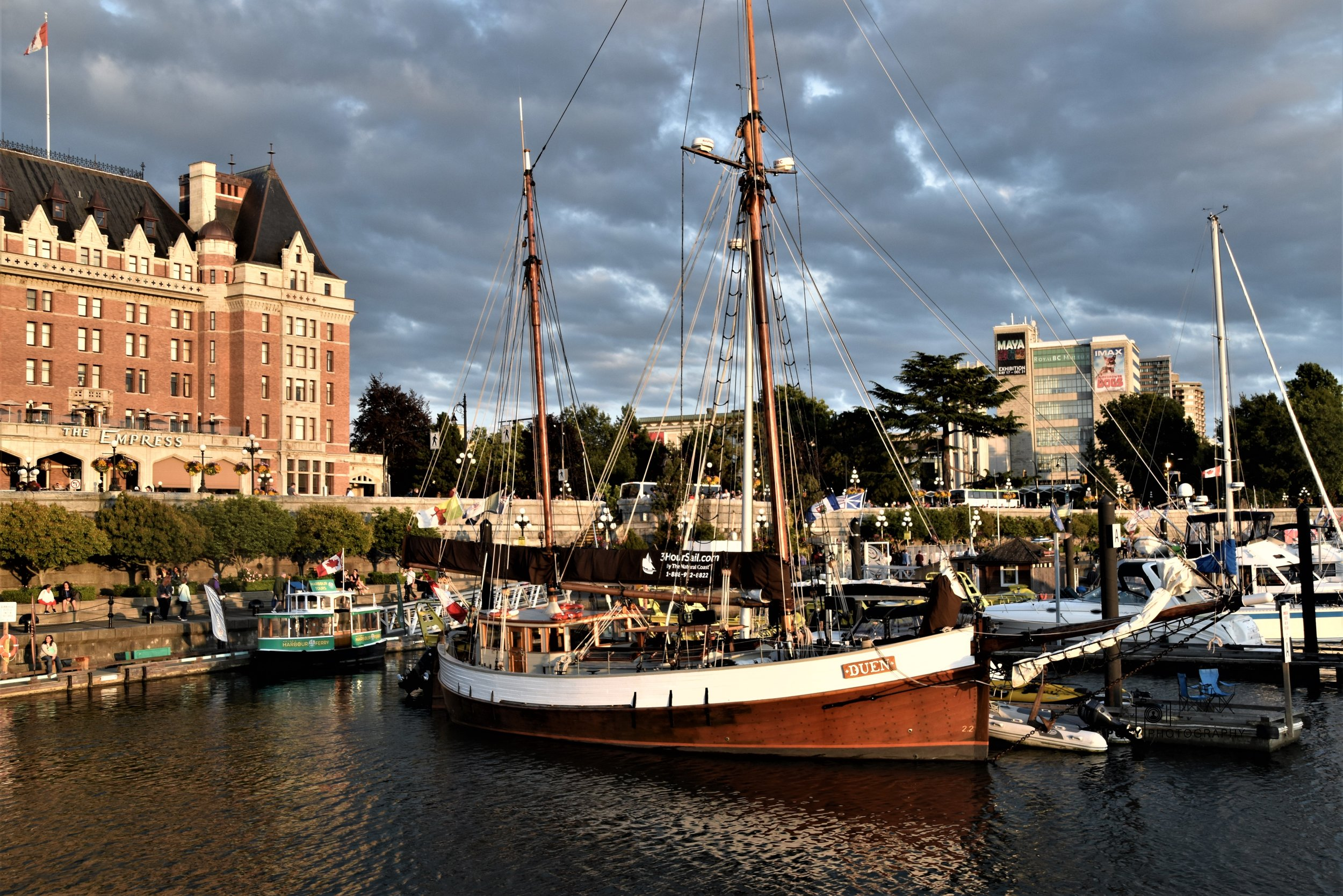 DUEN Sail boat Inner Harbour, Victoria, BC (Ships Point)