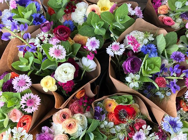 Bouquets ready for @paintedhousetn and @downtowngreenmarket Night Market!! Come out and see us at the first Night Market this year hosted by the Downtown Green Market!
