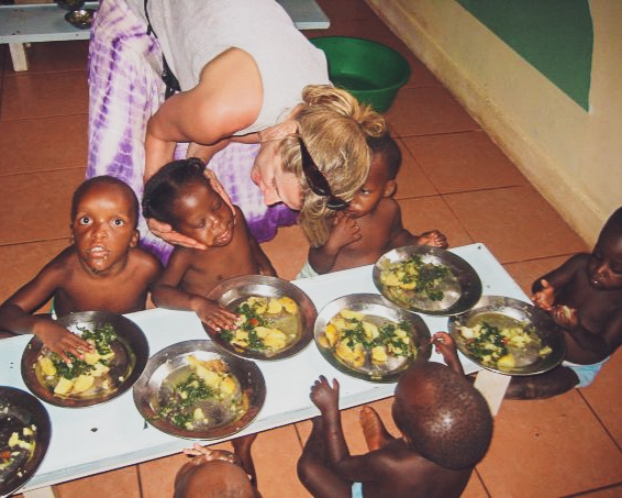 Suzanne and Josie at the orphanage in 2006 -
