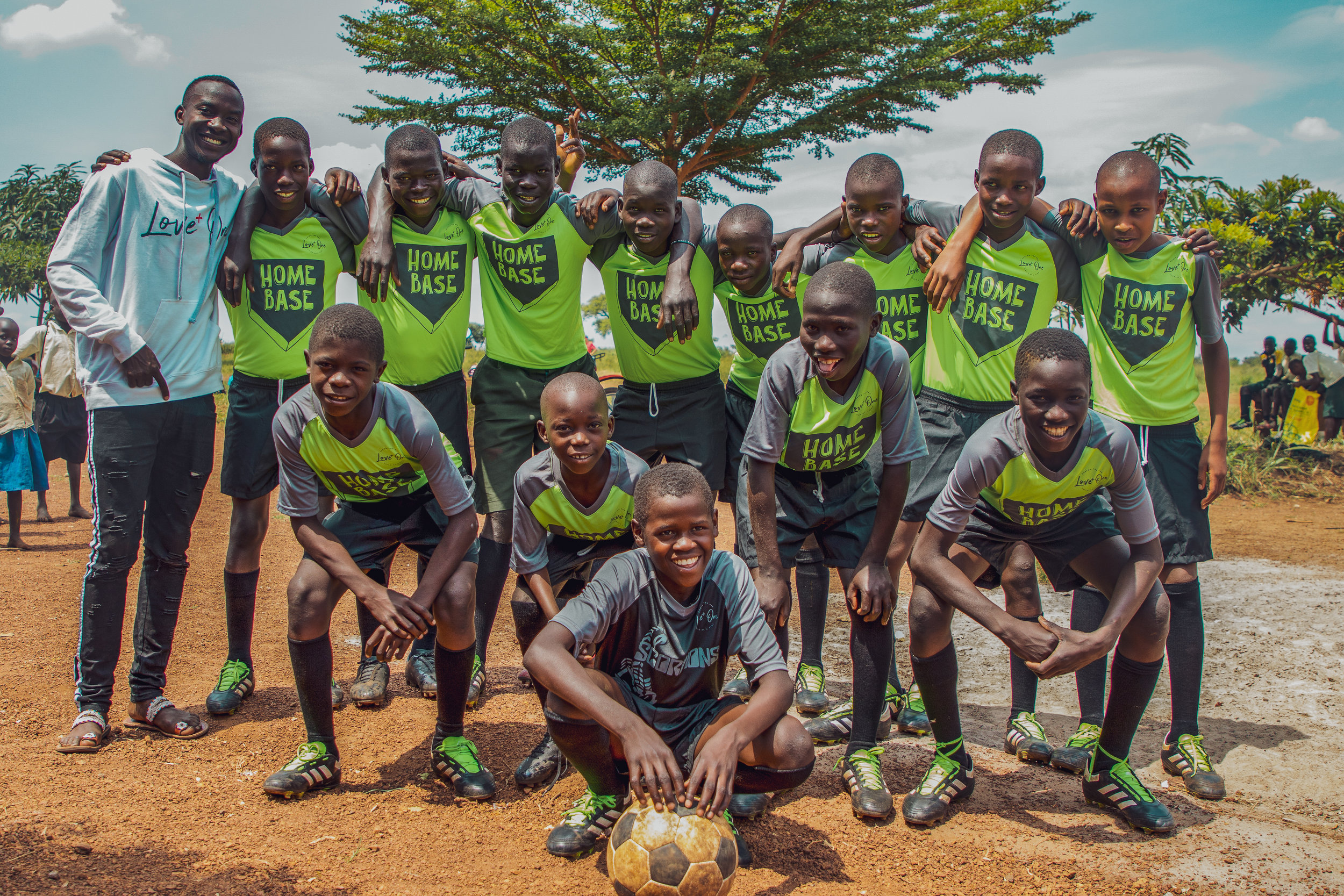 There are 9 soccer teams in the soccer program. Coach Jude teaches these children not only about the game, but also about Jesus' love for each and every one of them. -