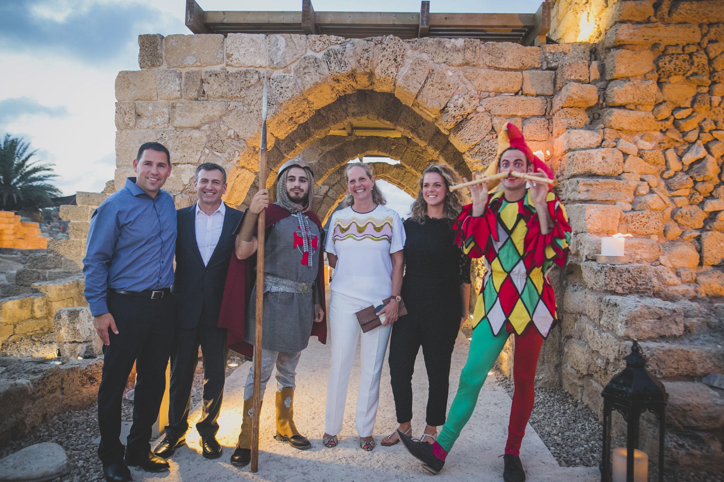 From Left:  Michael Karsenti,Guy Swersky,Baroness Ariane de Rothschild,Alice De Rothschild