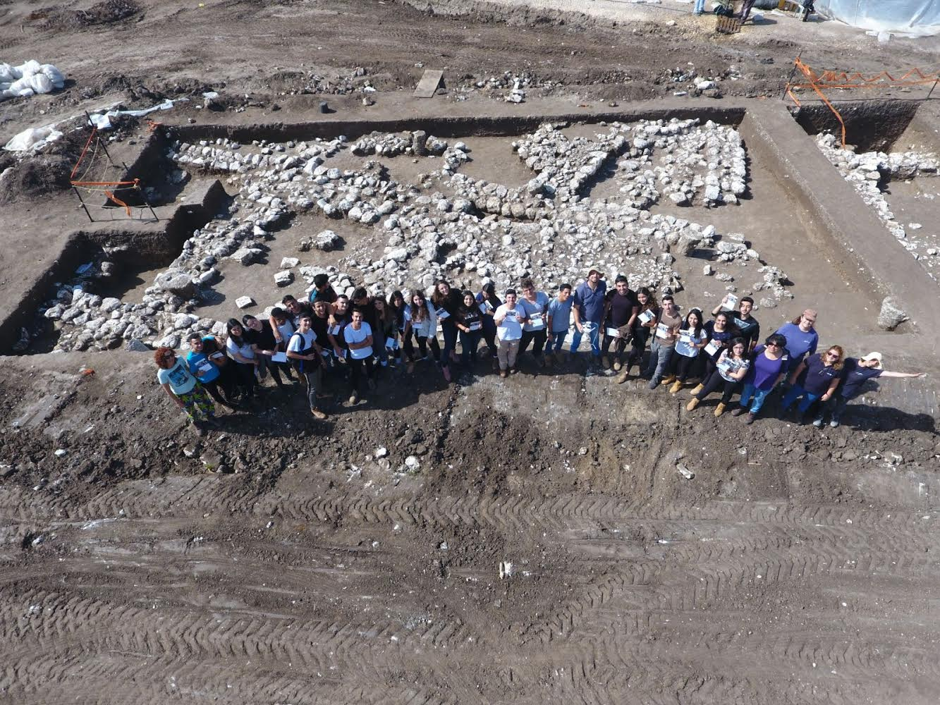 IAA Volunteers at the Site