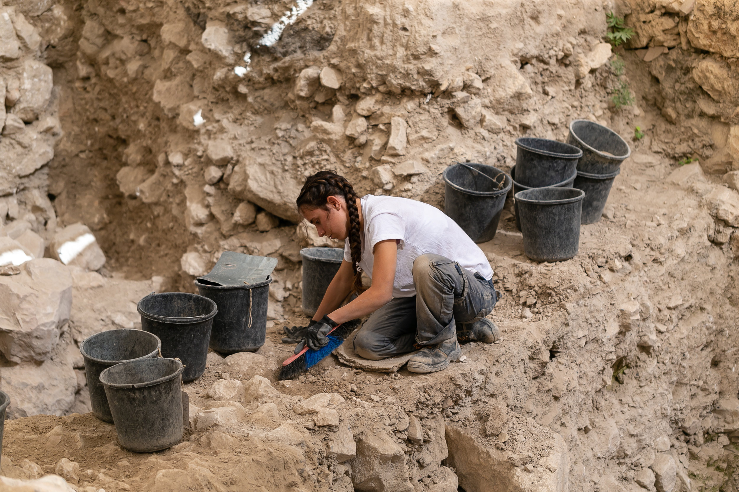 The archeological excavations in the Givati Parking Lot in the City of David.  Photo  credit: Eliyahu Yannai, City of David.
