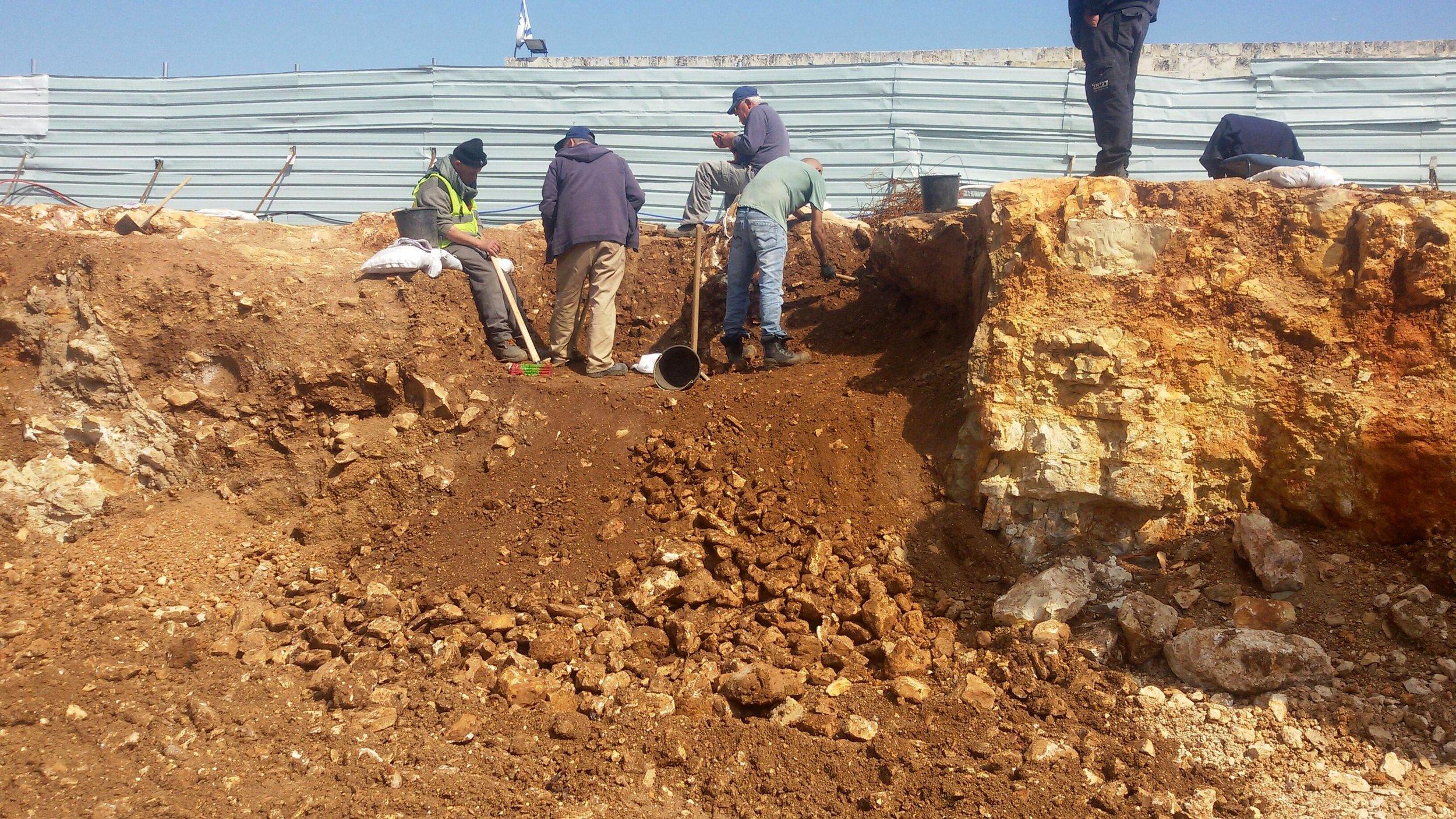 The Excavation Site.  Photo:  Kfir Arbib (IAA)
