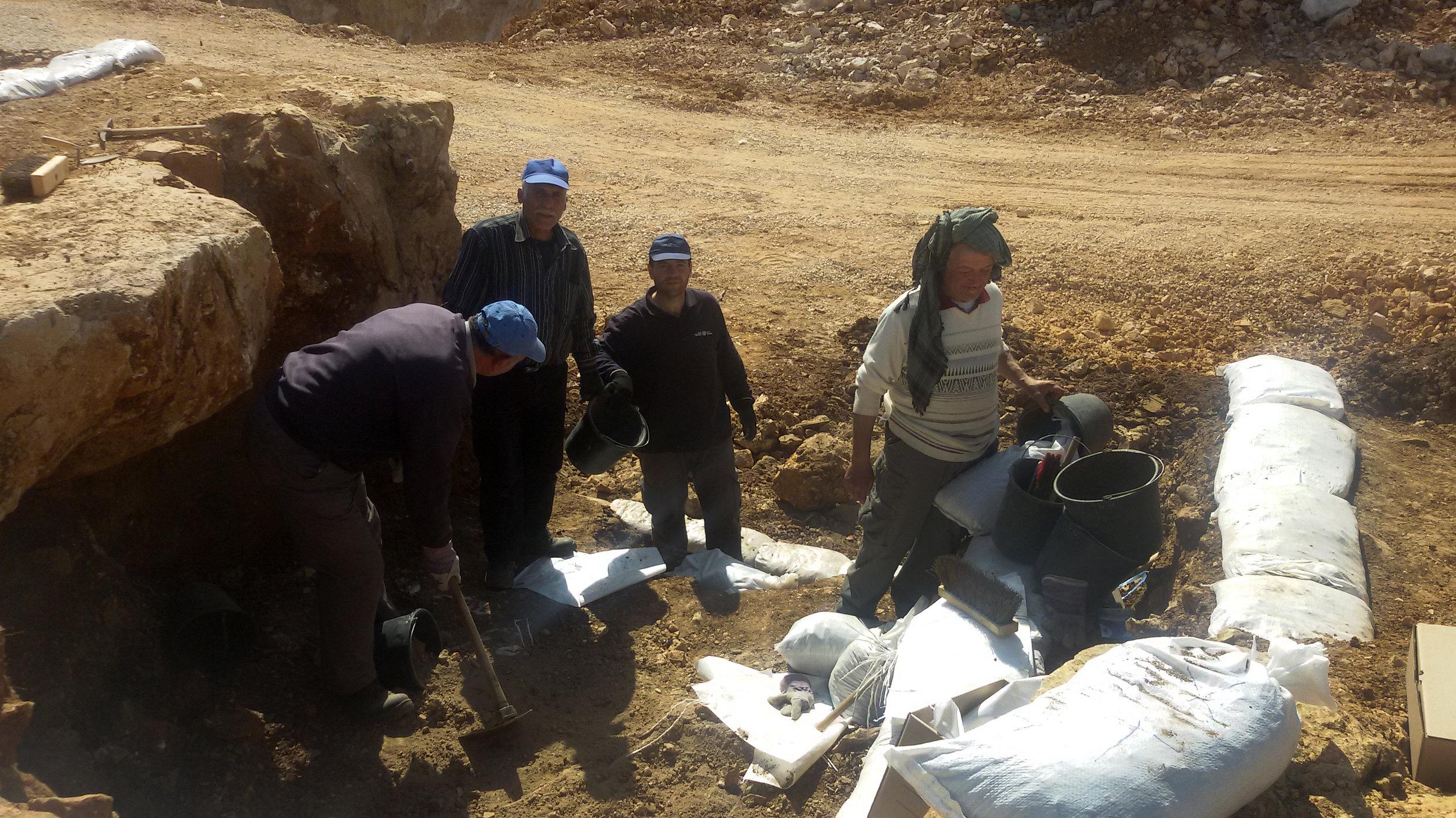 At the Excavation.  Photo:  Kfir Arbib (IAA)