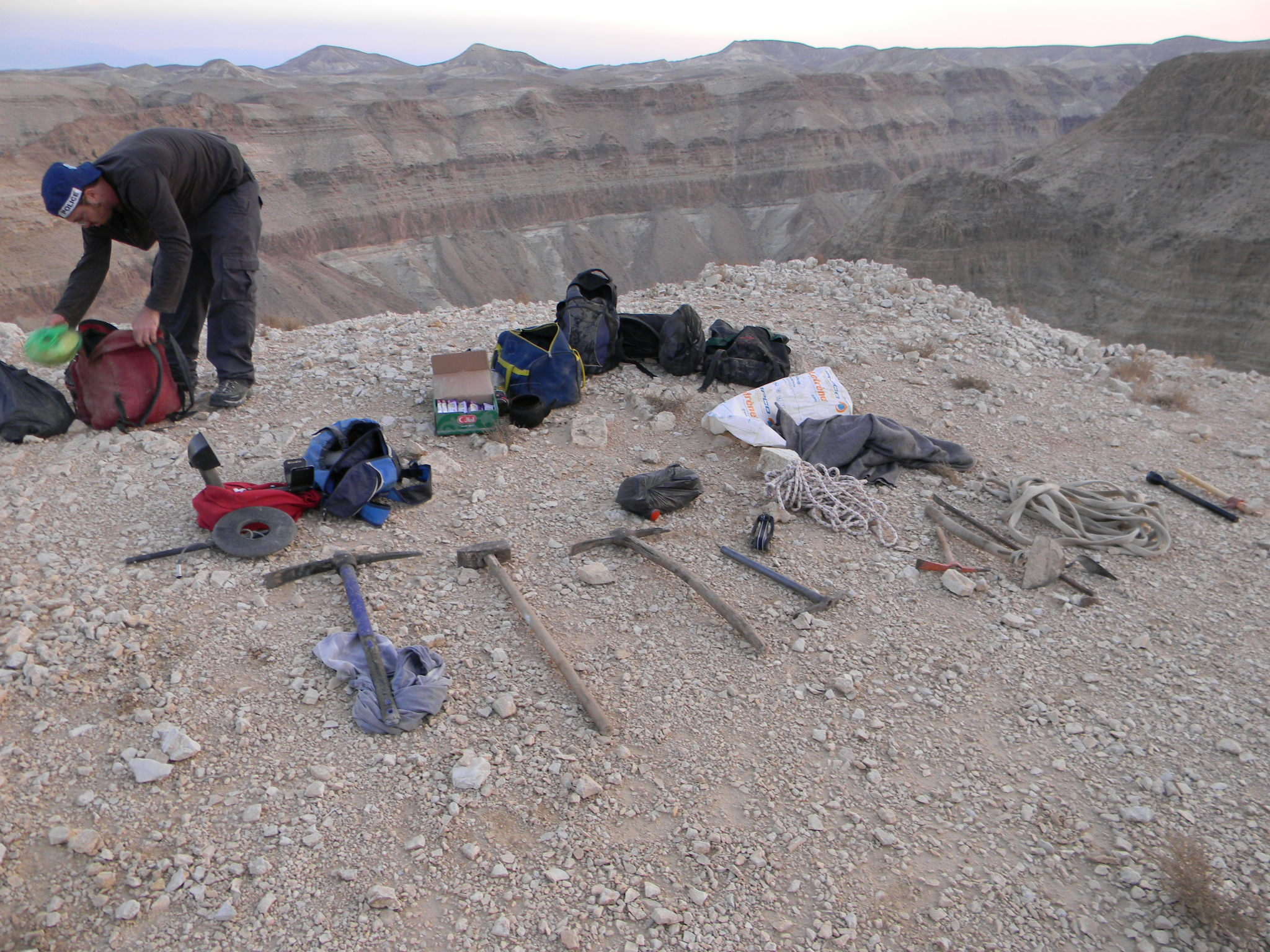 Digging equipment seized from a gang of looters caught by The Unit in 'Skulls Cave'.