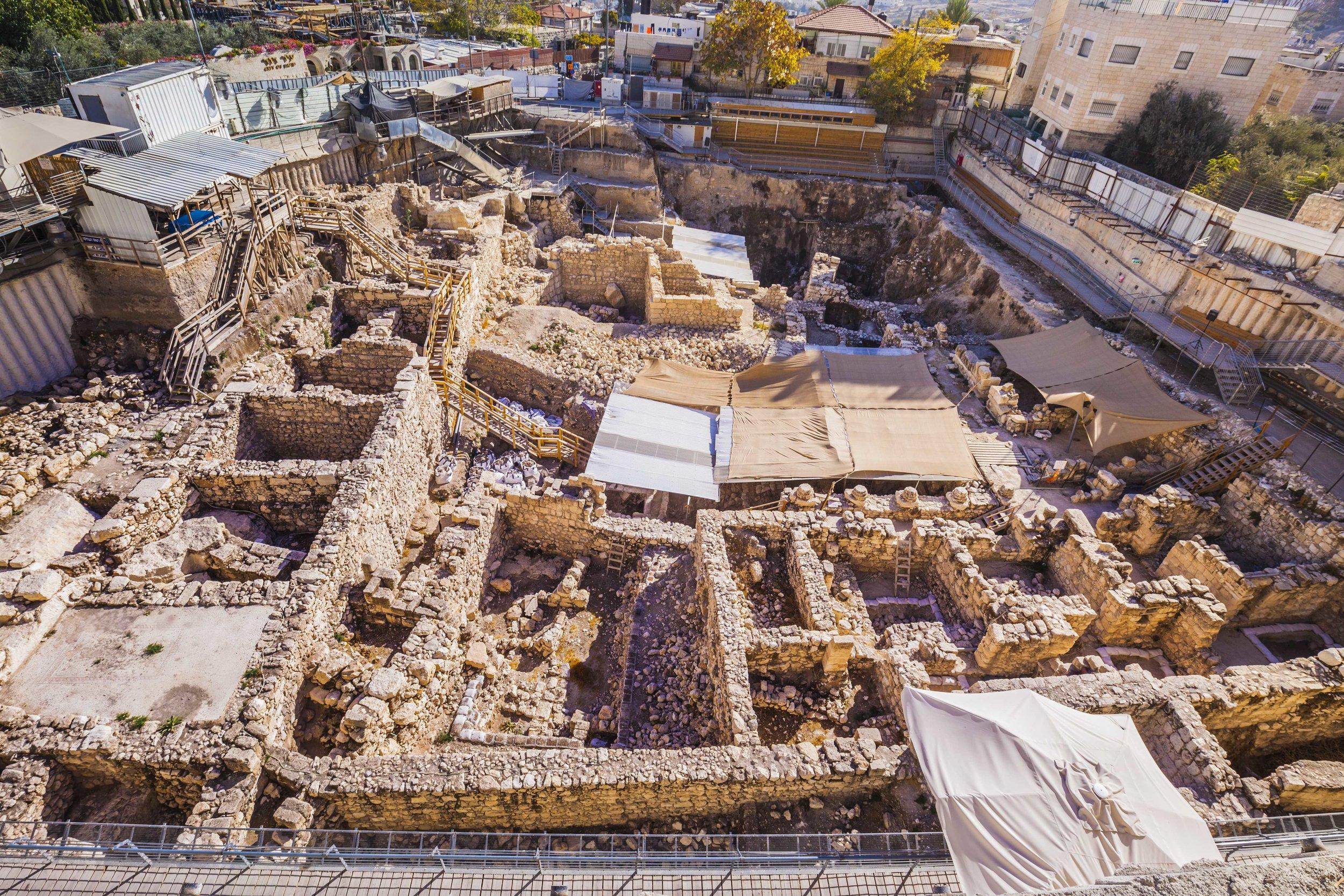 Givati Parking Lot Excavations in the City of David.  Photo:  Kobi Harati