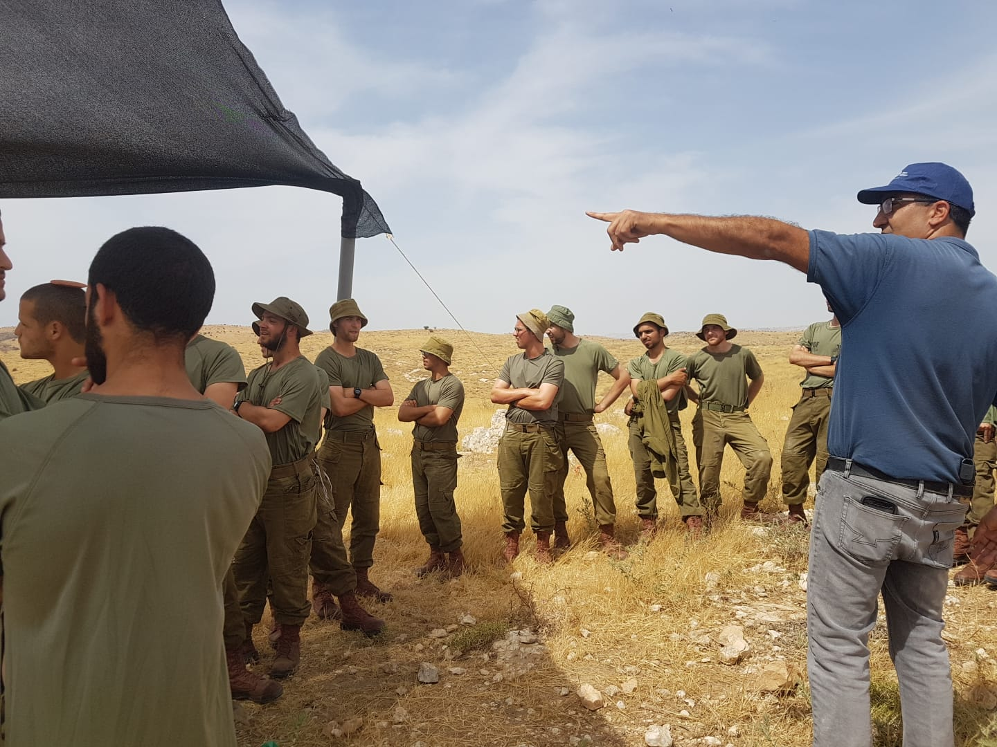 IDF soldiers at the excavation site.  Courtesy, IAA.
