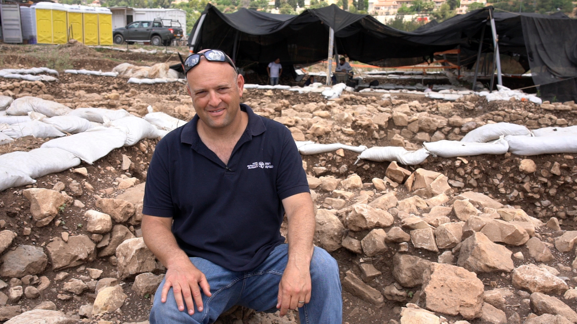 Dr. Jacob Vardi, Director of the excavations on behalf of the IAA.  Photo: Yaniv Berman, Israel Antiquities Authority.