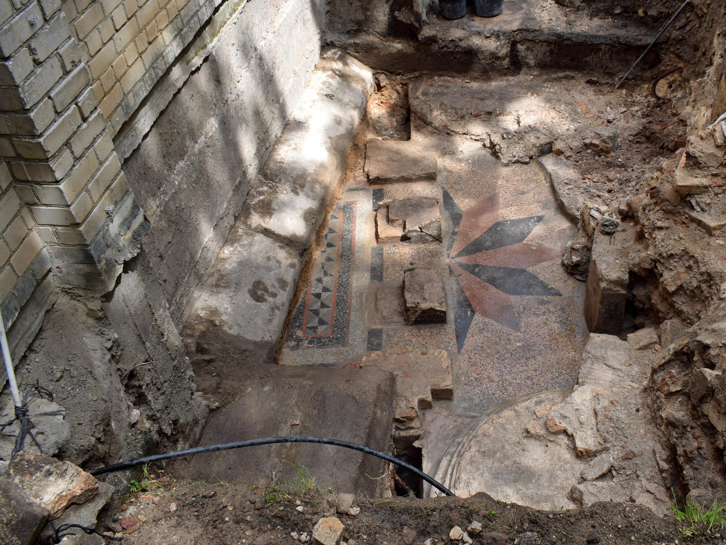 The floor of the prayer hall.
