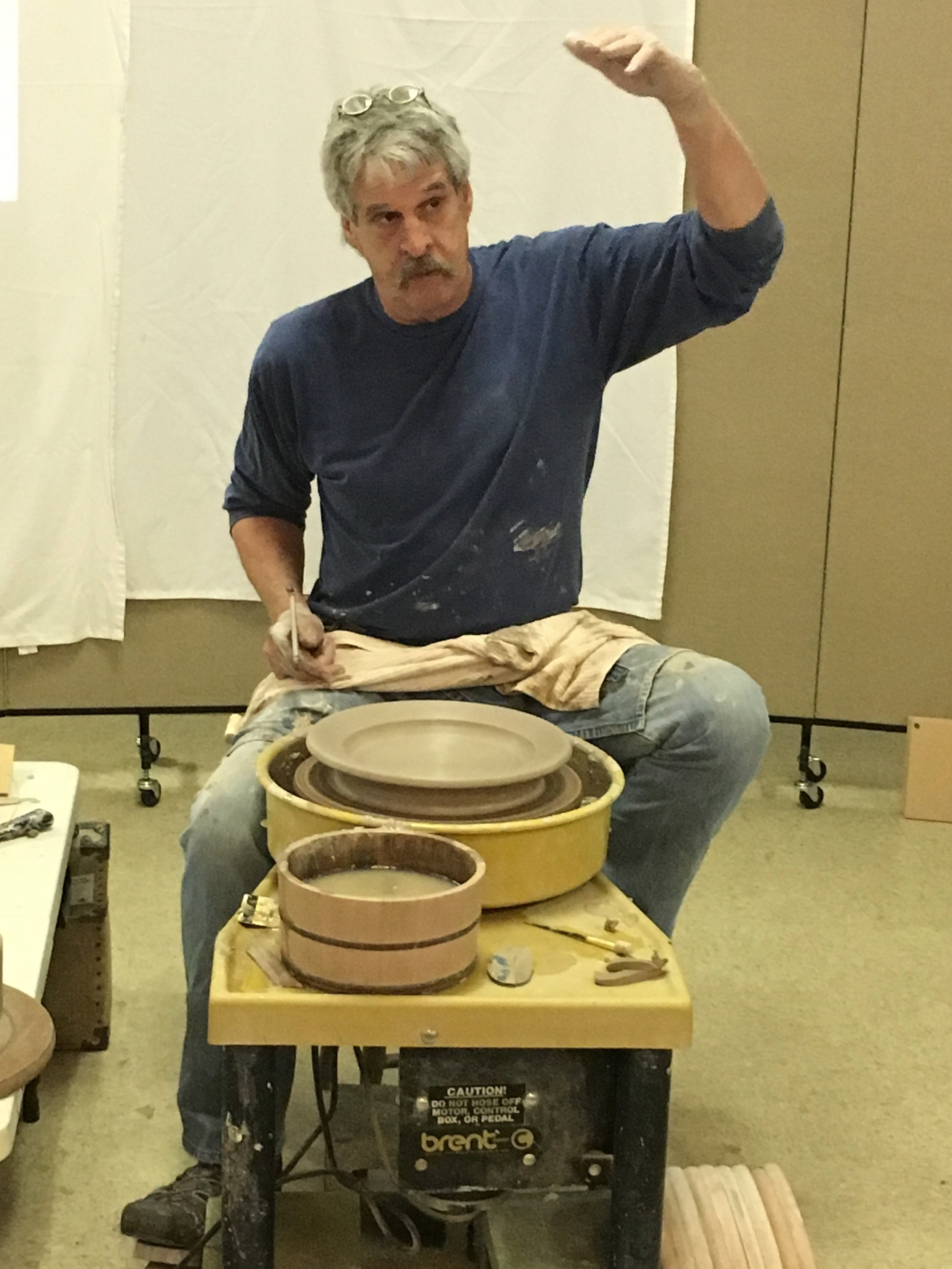 Always looking - to improve my pottery making skills, I joined a new potters group and attended a wheel throwing workshop.