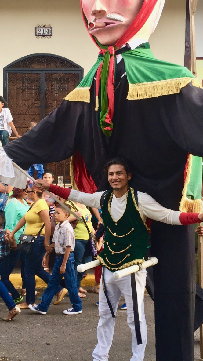 A performer duing Hippica (horse parade)