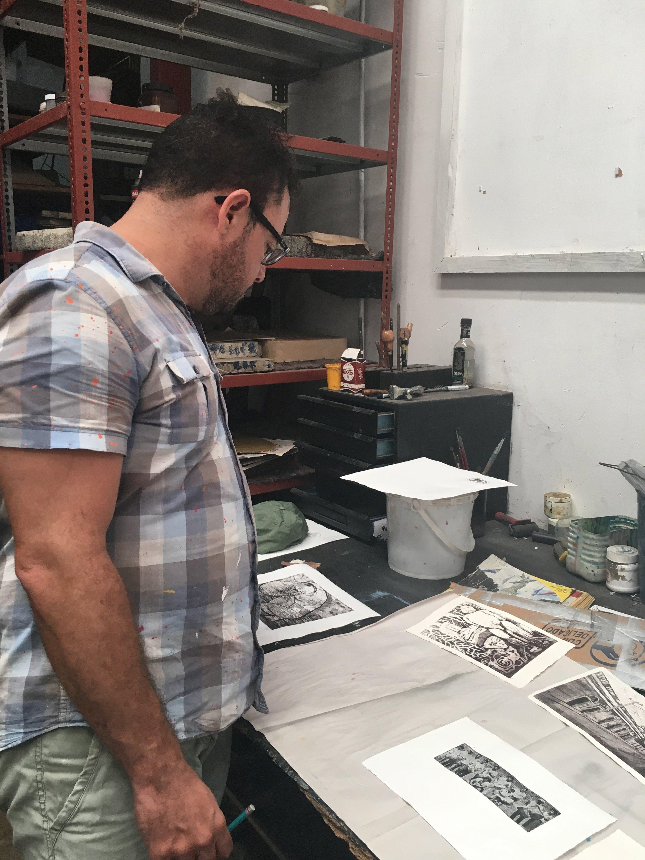 A print artists studio