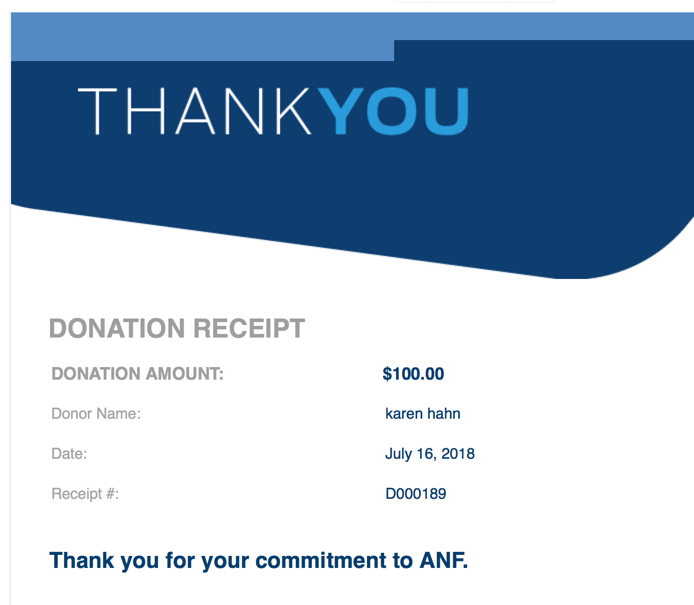Our first donation! - I will continue to post as funds are raised.Thank you!