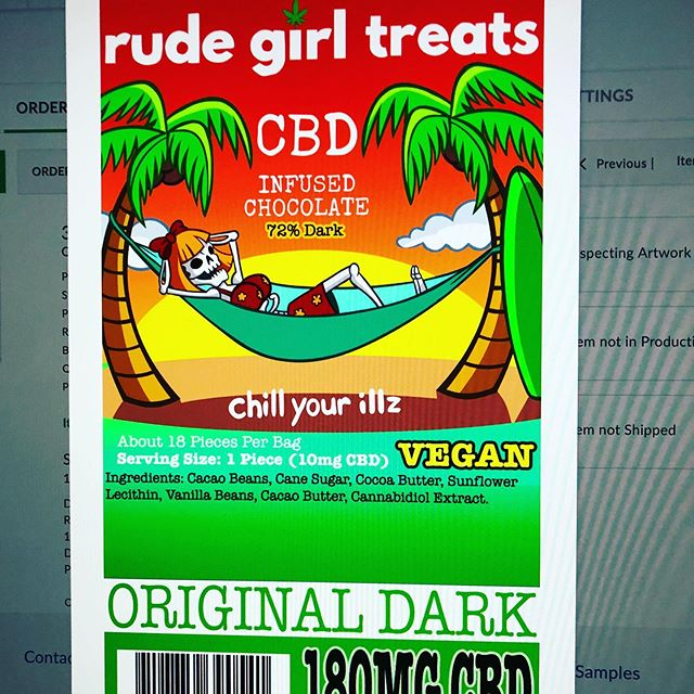 New look 👀 same amazing chocolates. New package art 🖼 coming soon #stayrude #rudegirltreats #cbd #cbdchocolate  #changes