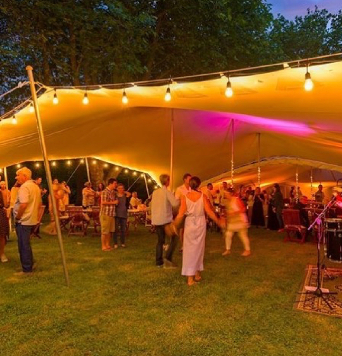 - Our Stretch Tents are very versatile and can be rigged to create amazing open but sheltered spaces…