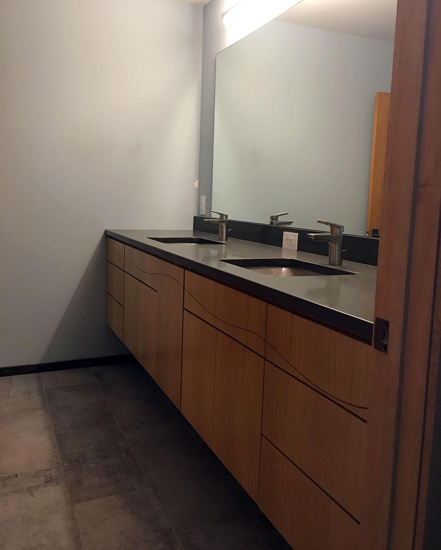 White Oak Bathroom Vanity Germansen Woodwork And Design