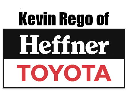 Kevin Rego of Heffner Toyota - Mention the show for SPECIAL vehicle pricing on new vehicles.https://www.facebook.com/HeffnerKevin/