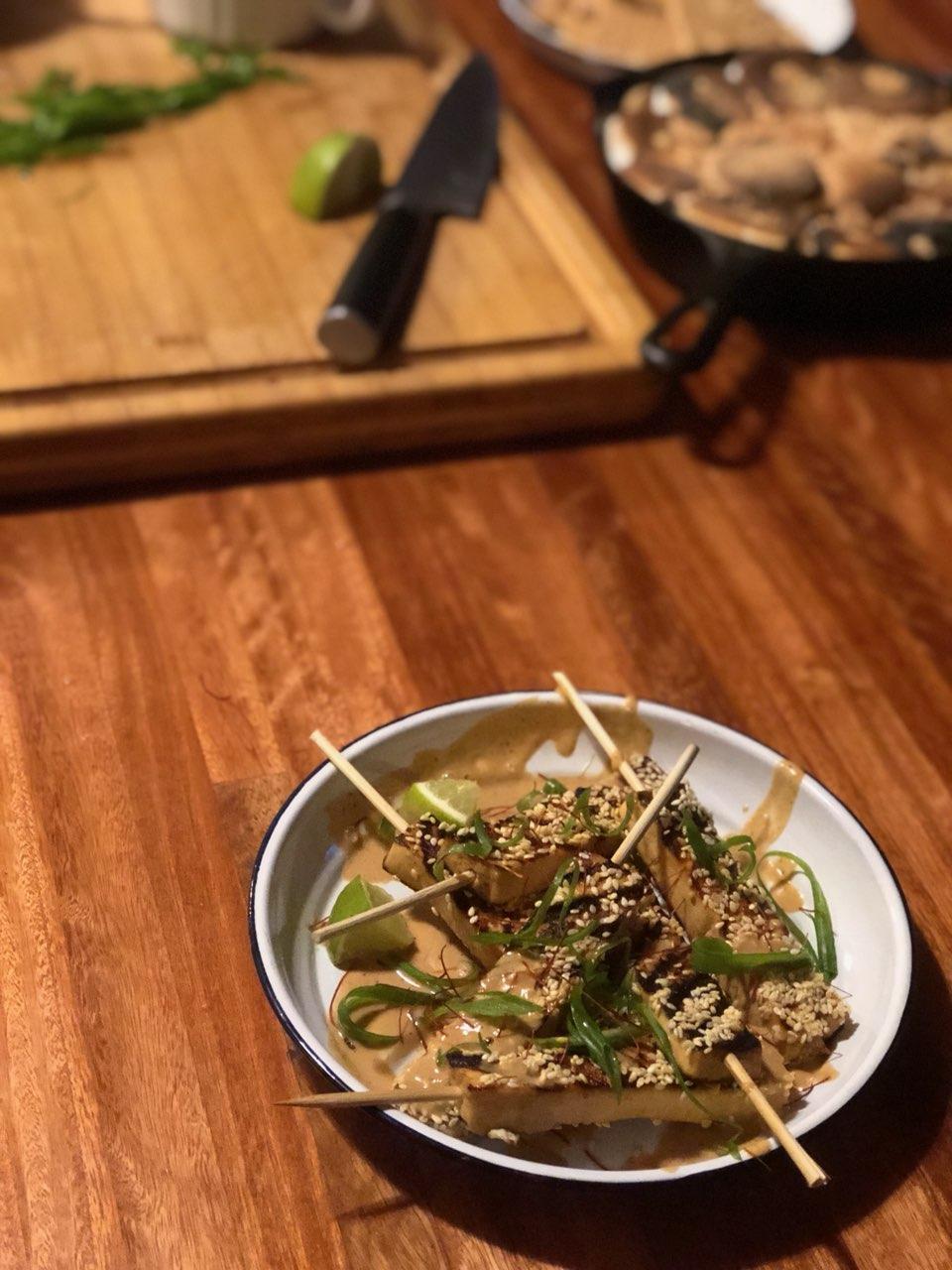 Thai Peanut Tofu Kebab
