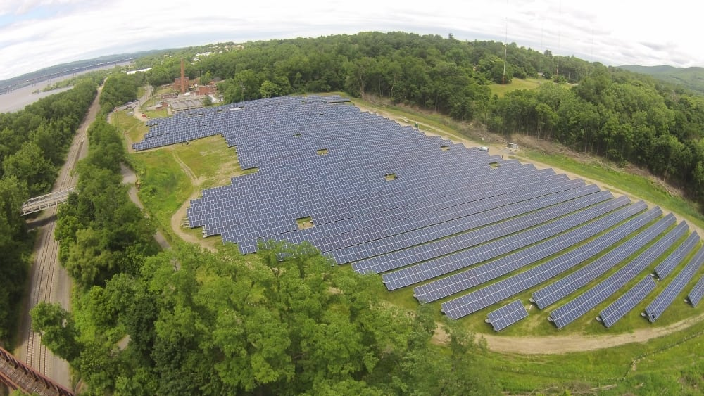 A solar farm at the former Beacon, NY landfill near Dennings Point will save the city as much as $100,000 annually in electricity costs.