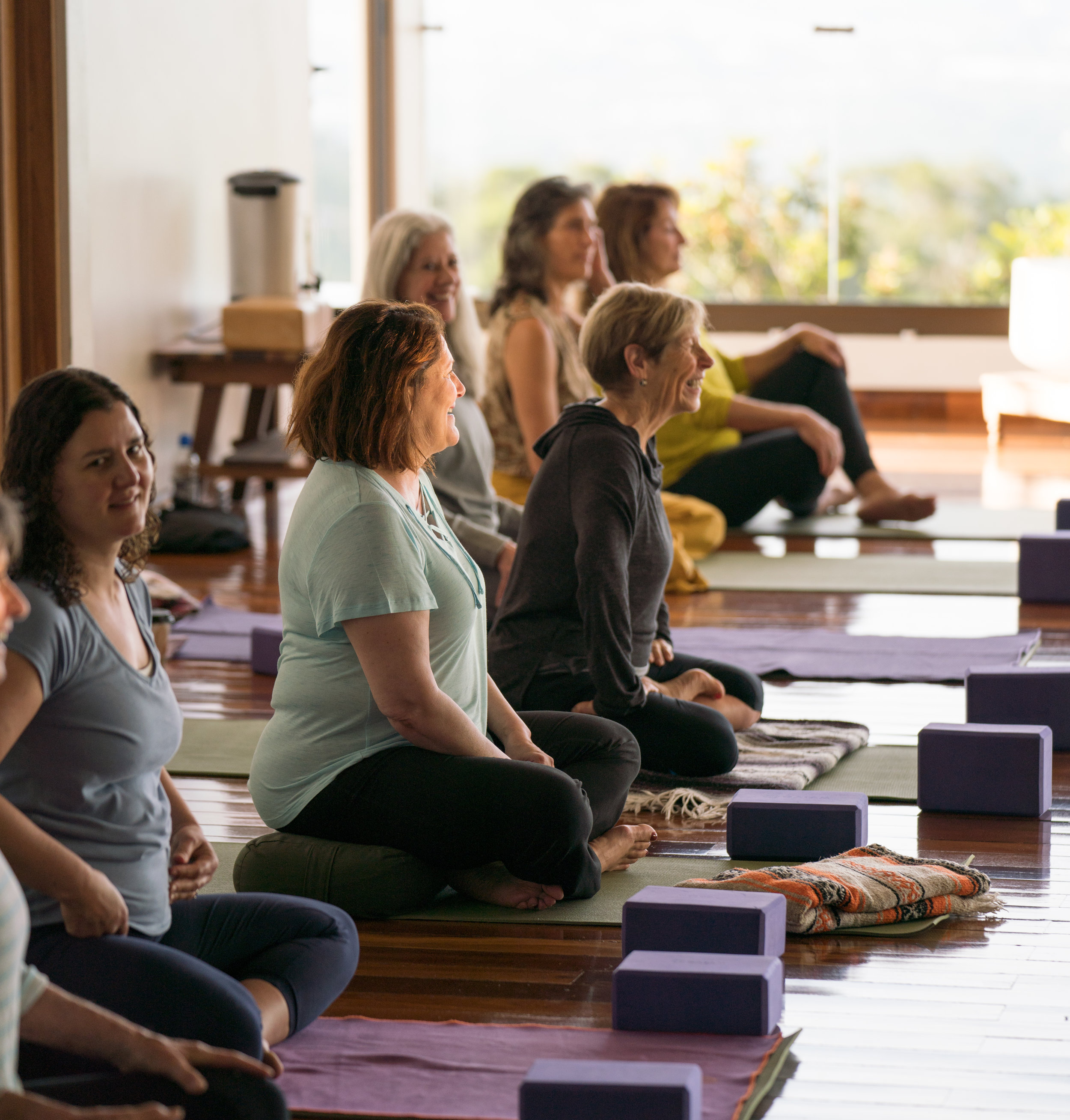 """""""The combination of practical hands-on yoga training with a theoretical and philosophical yoga foundation made this a safe experience with a lot of joy and humor."""""""