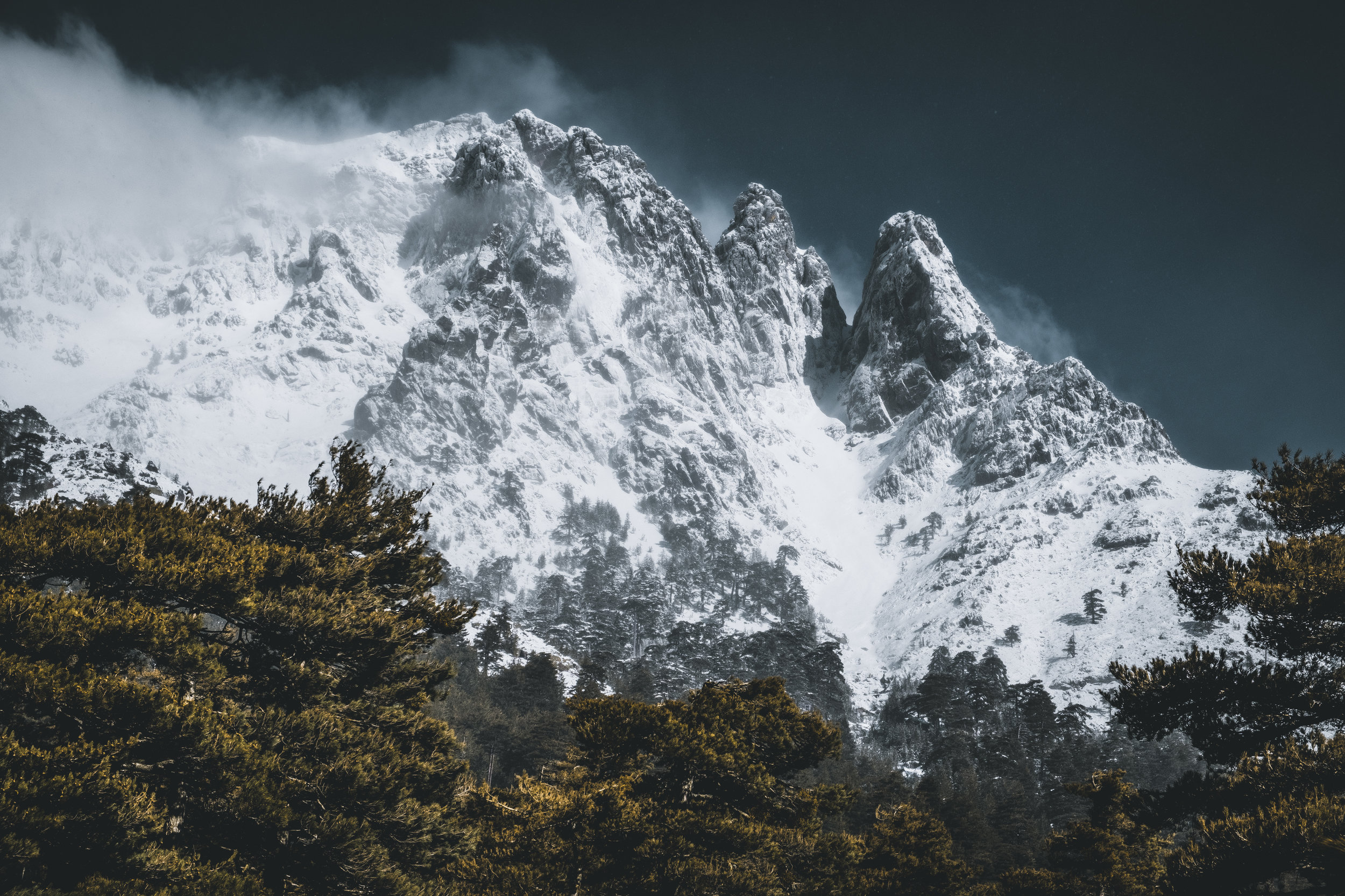 Wild mountains around the area of Haute Asco