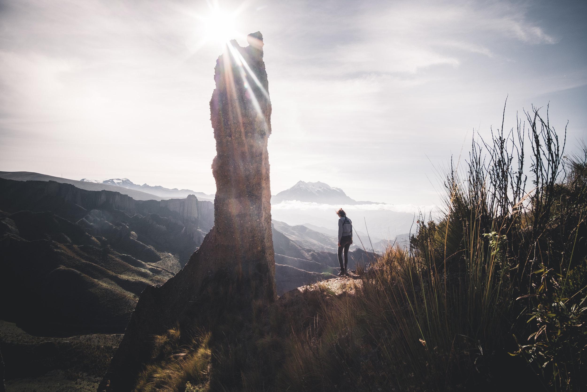 Sunny day above the valle de las animas | La Paz