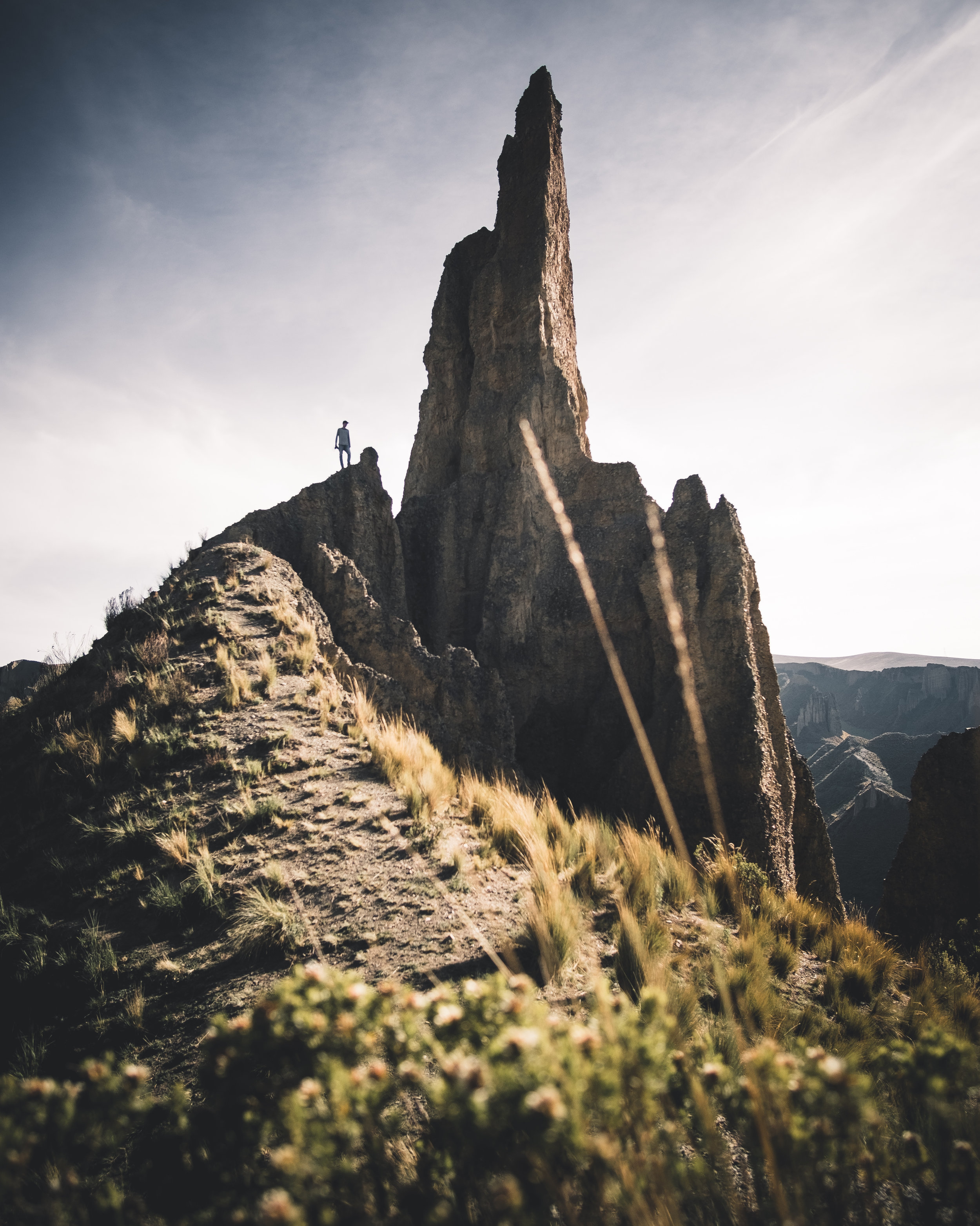 Crazy rock needles | La Paz