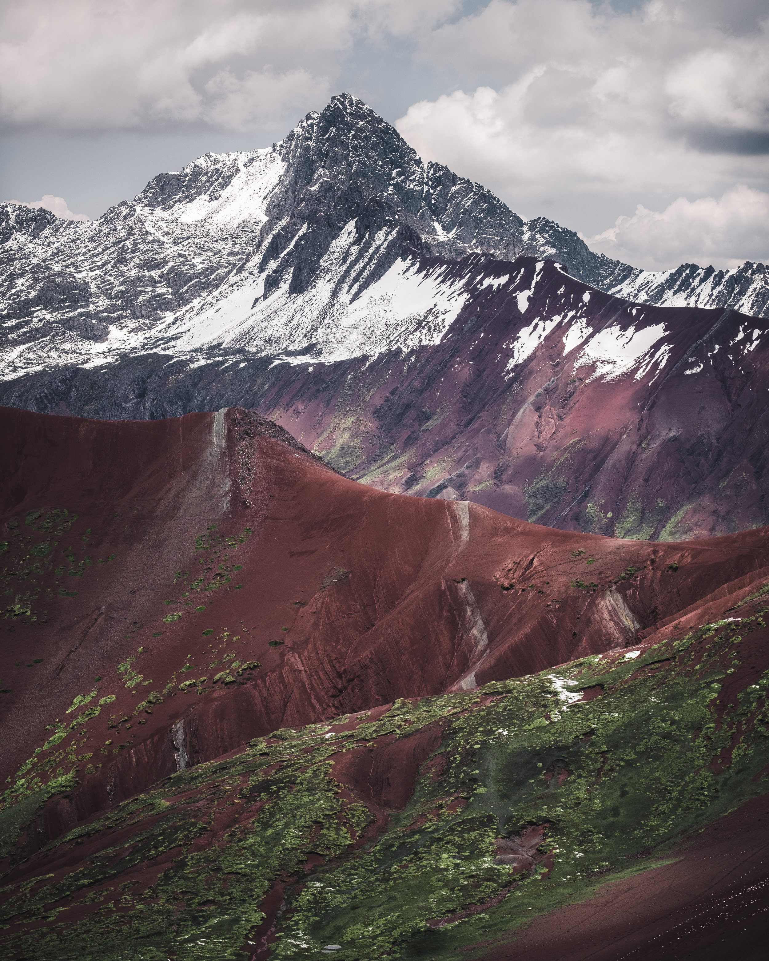"""Mountain above the """"red valley"""" 