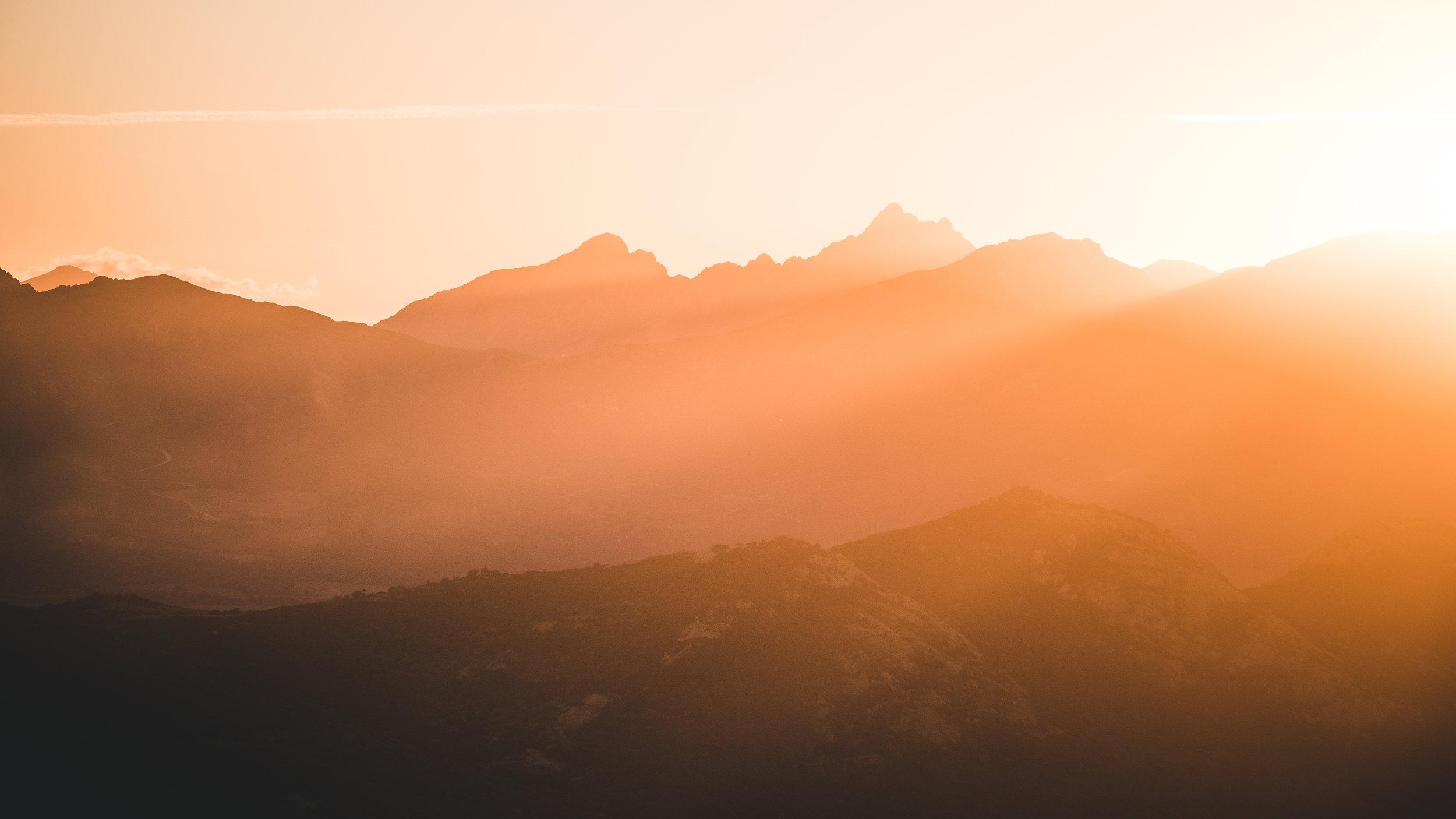 Sunset light in the Balagne region