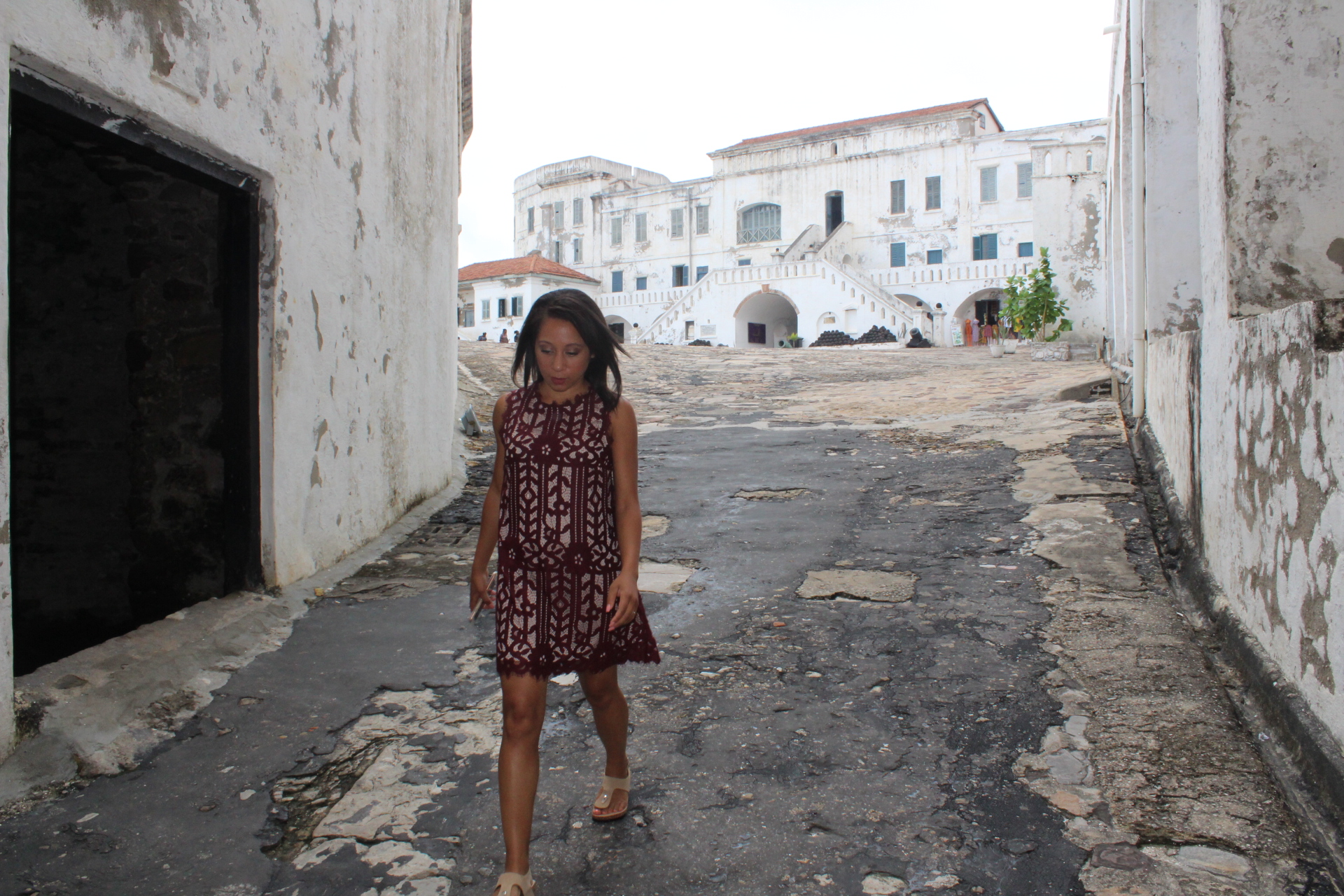 Walking through the Cape Coast slave castle, processing the horrible stories I'd just heard.