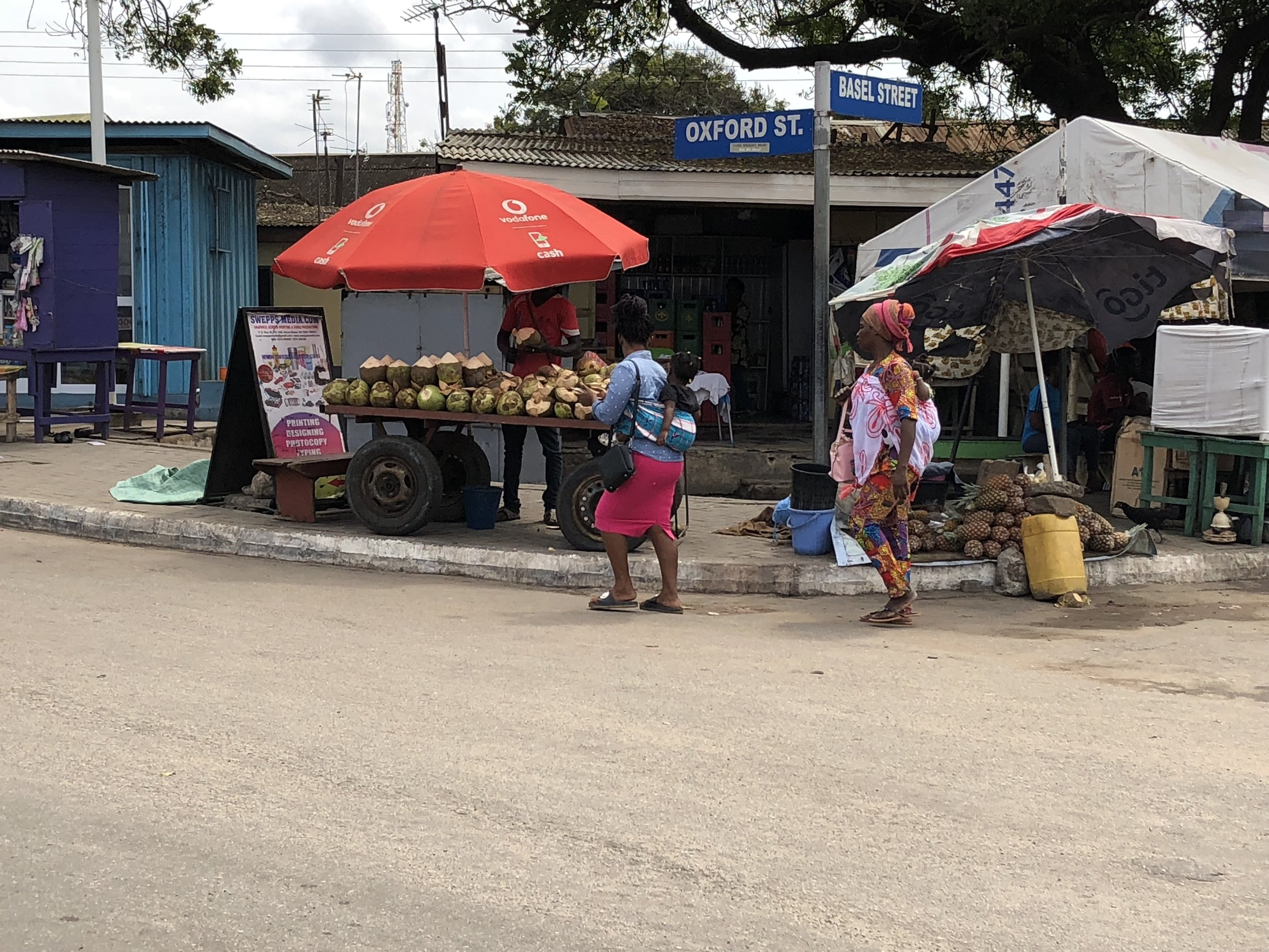 Women conducting their daily errands in Accra.