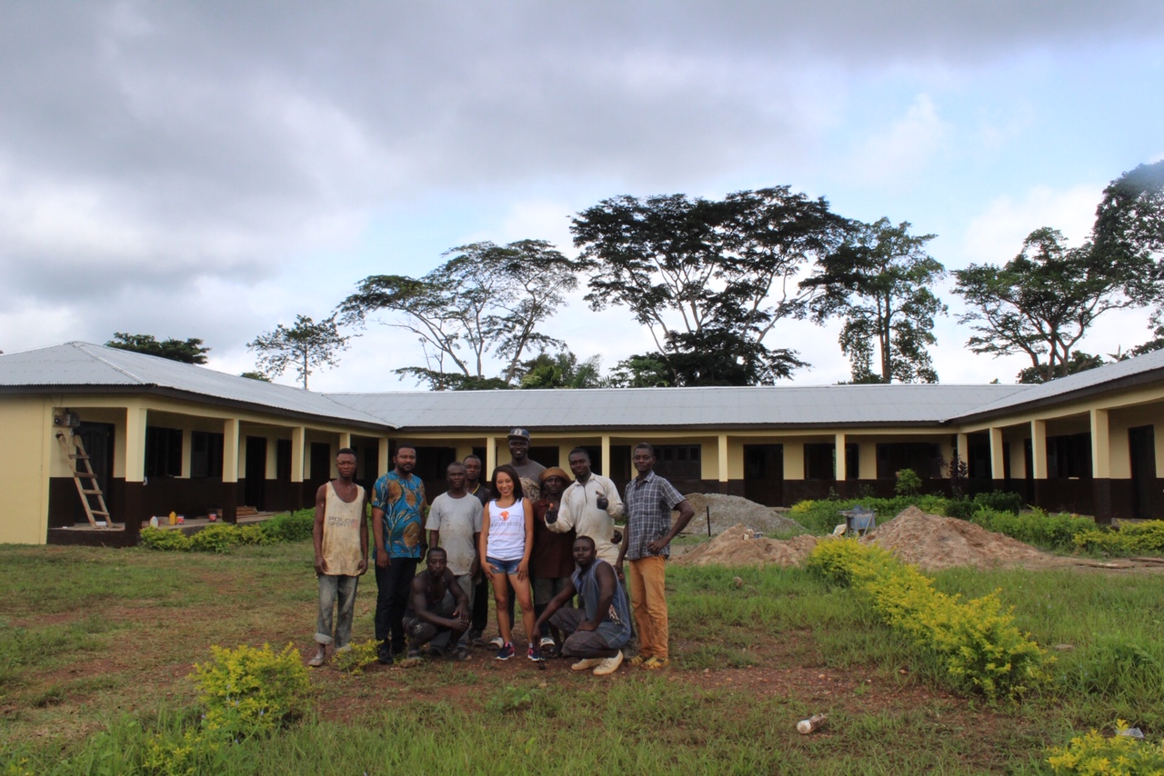 Visiting one of the schools Ashanti African Tours was building for a nearby village