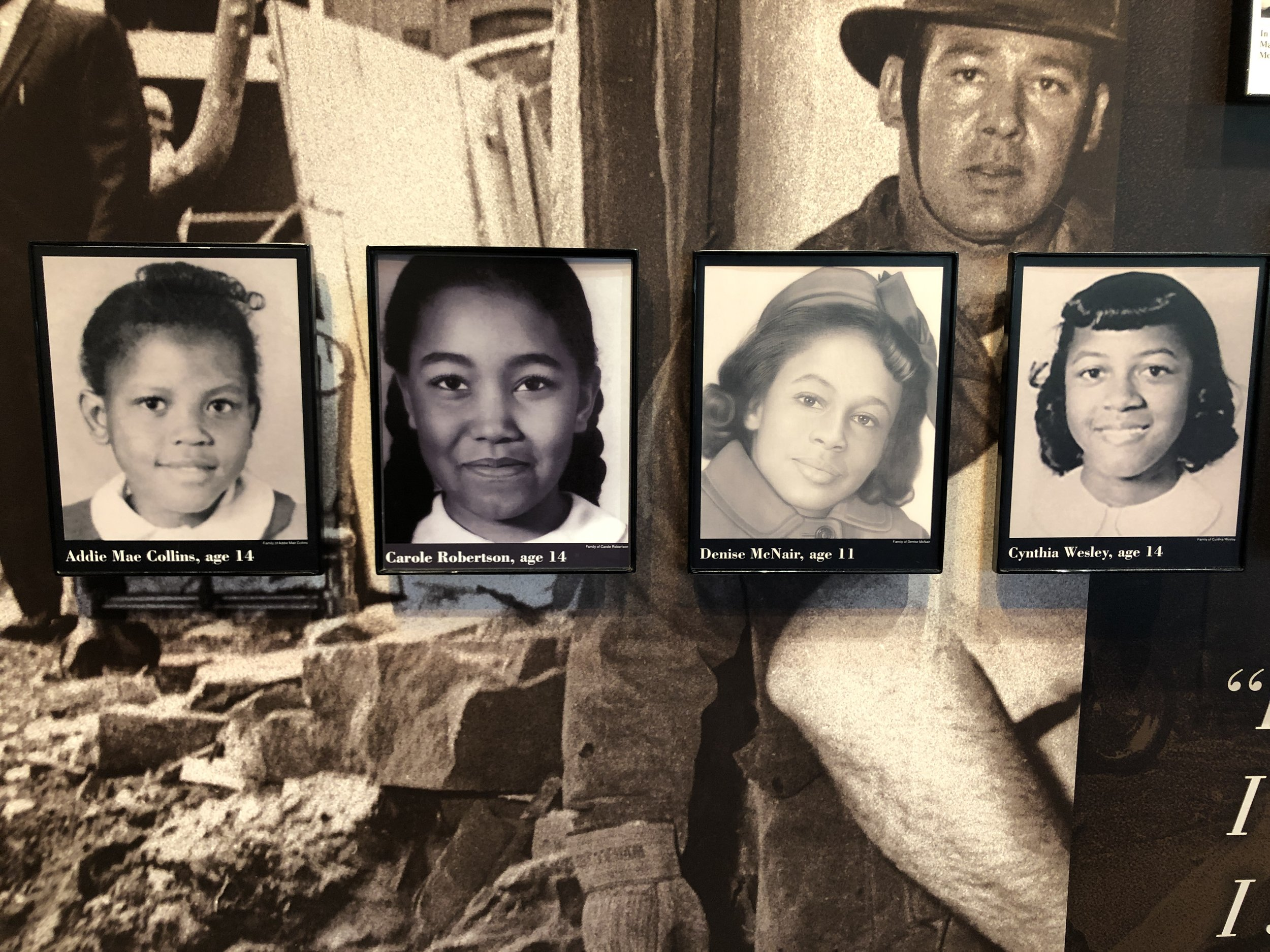 The four little girls killed in the 16th Street Baptist Church bombing.