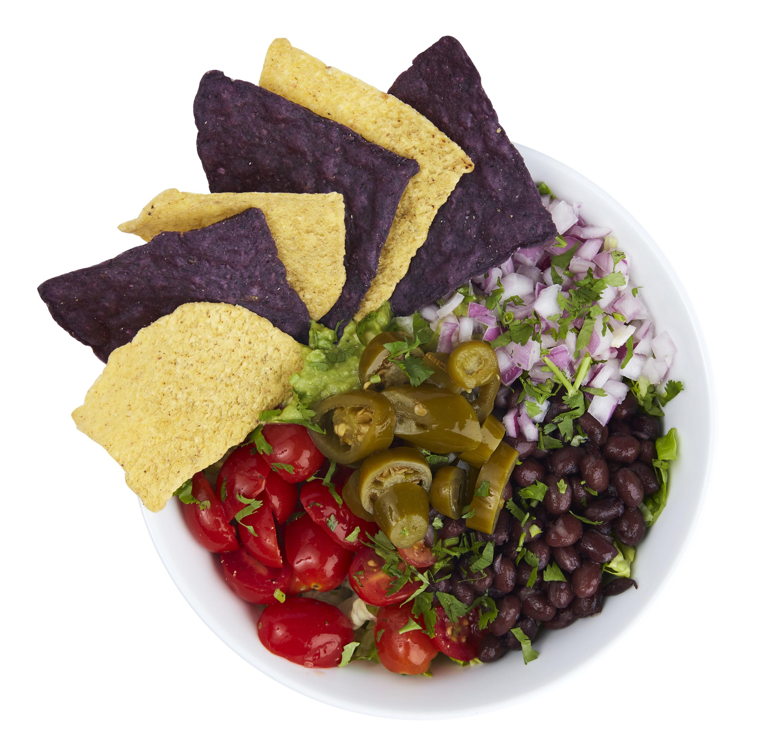 Picante Salad - $10.99  Romaine, guacamole, pico de gallo, black bean, red onions, pickled jalapeno, cilantro, tortilla chips, cilantro-lime dressing