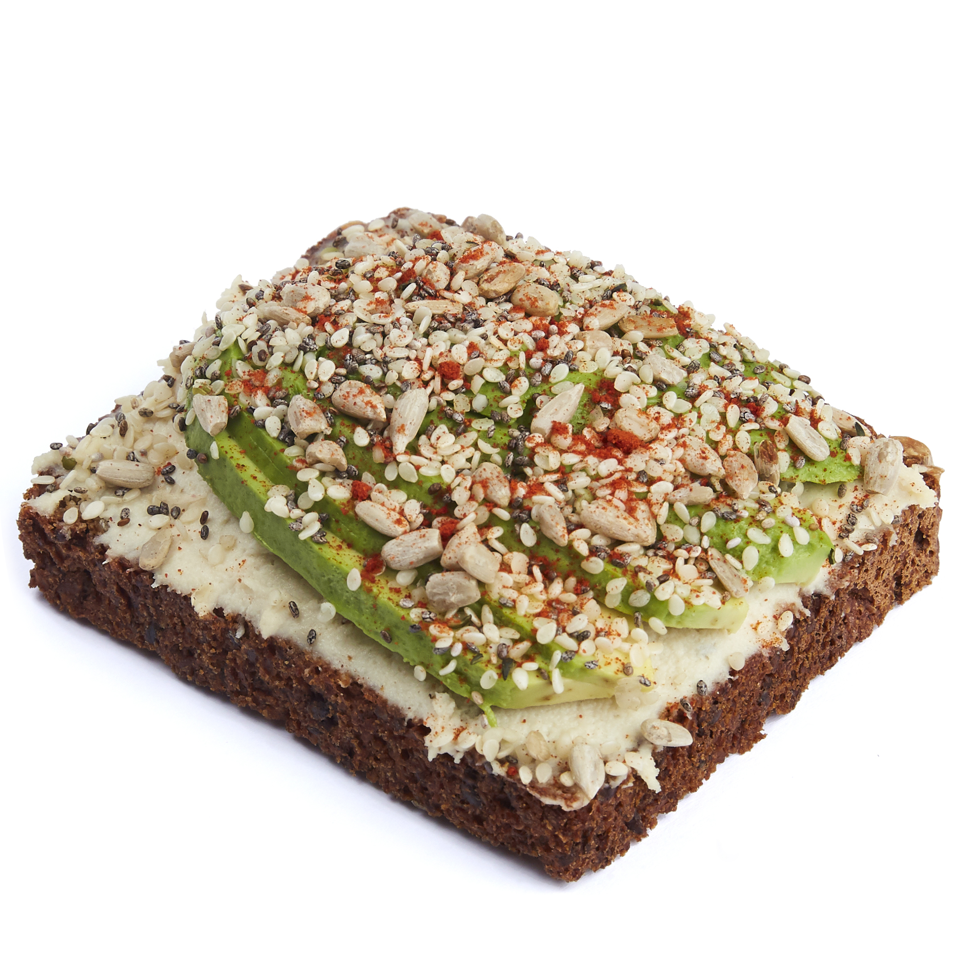 Cashew cheese with seeded avocado and paprika  - $10.99
