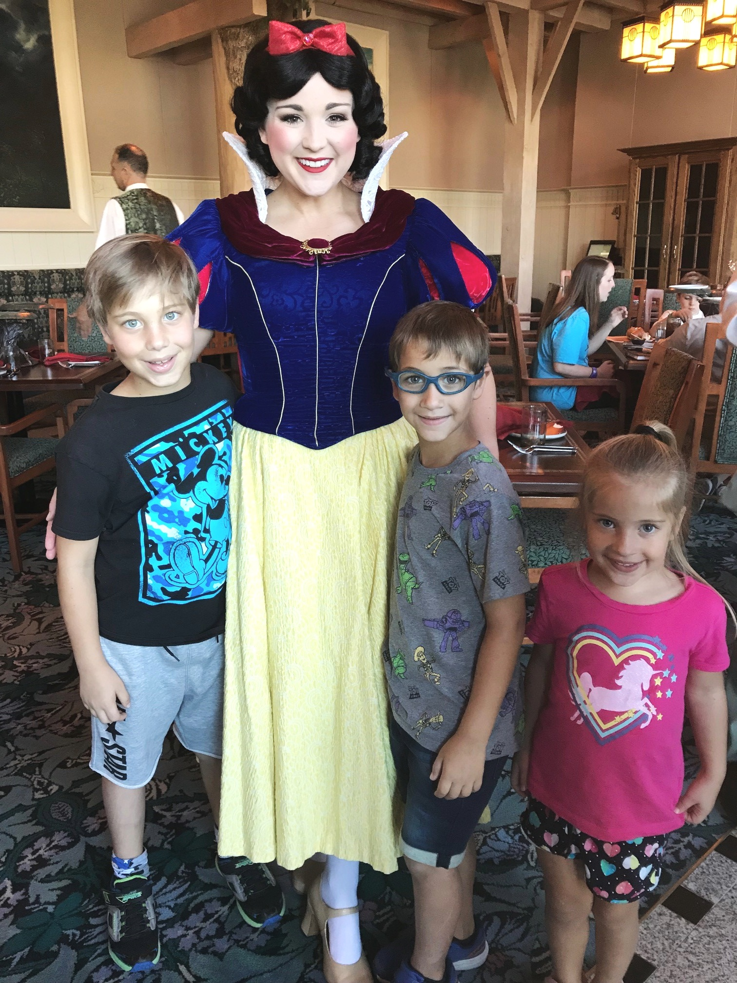 Snow White during the Character Meet and Greet