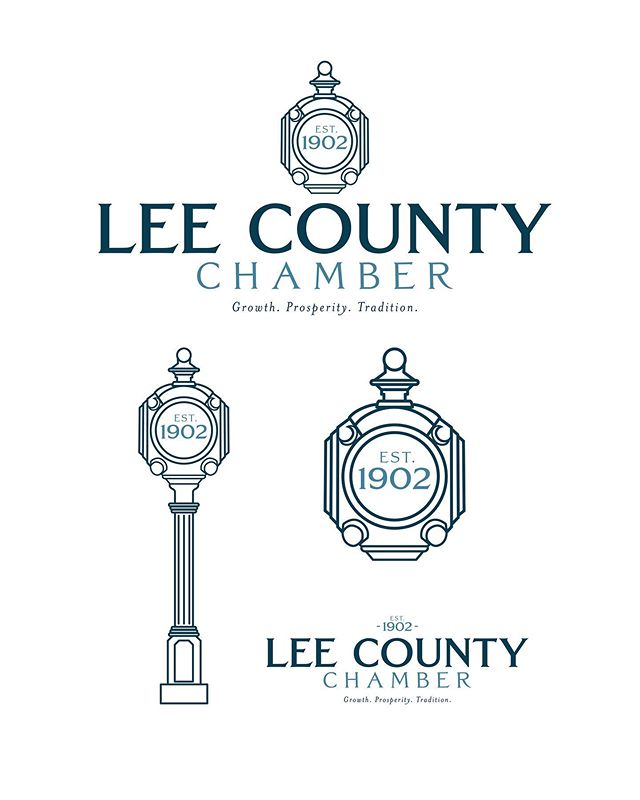 Switching it up a bit! Lee County Chamber branding we recently finished up #wefancy . . . . #fangandclawstudio #leecounty #leecountychamber #graphicdesign #typography #illustration #procreate #procreateillustration #adobedraw #adobeillustrator #logodesigner #logodesigns #clockdesign #designstudio #branding #brandingdesigner