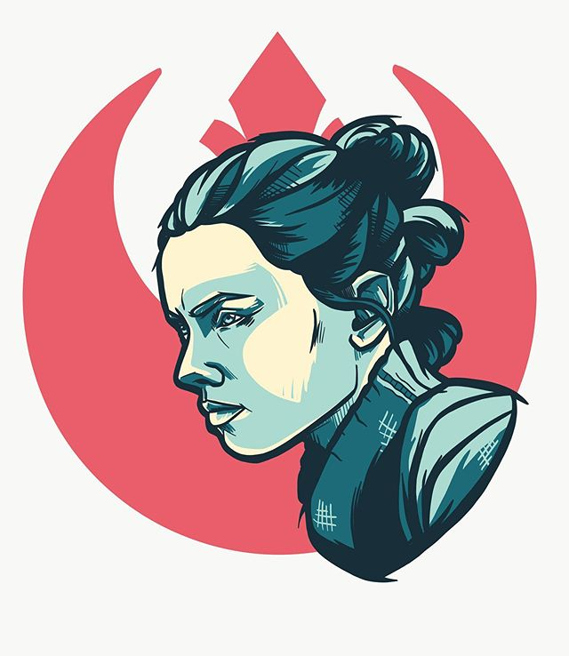 Finally got around to finishing up our little Star Wars Gals sticker pack! Keep a look out for this little lady, Rey will be hitting the shop soon 👊🏻 • • •  #fangandclawstudio #hartsvillesc #shopsmall #illustration #graphicdesign #stickers #slaps #slapstickers #stickergamestrong #vinylstickers #starwars #disney #starwarsdisney #rey #reystarwars #thelastjedi #etsyshop #procreate #procreateillustration #adobeillustrator