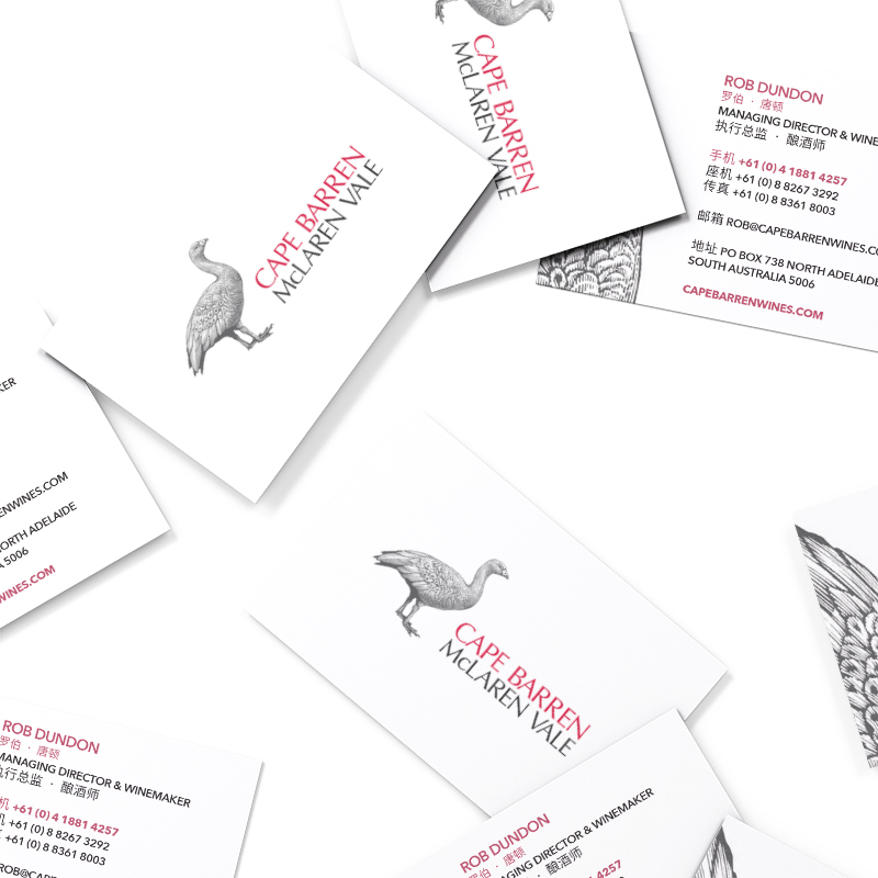 Cape Barren Wines Business Cards